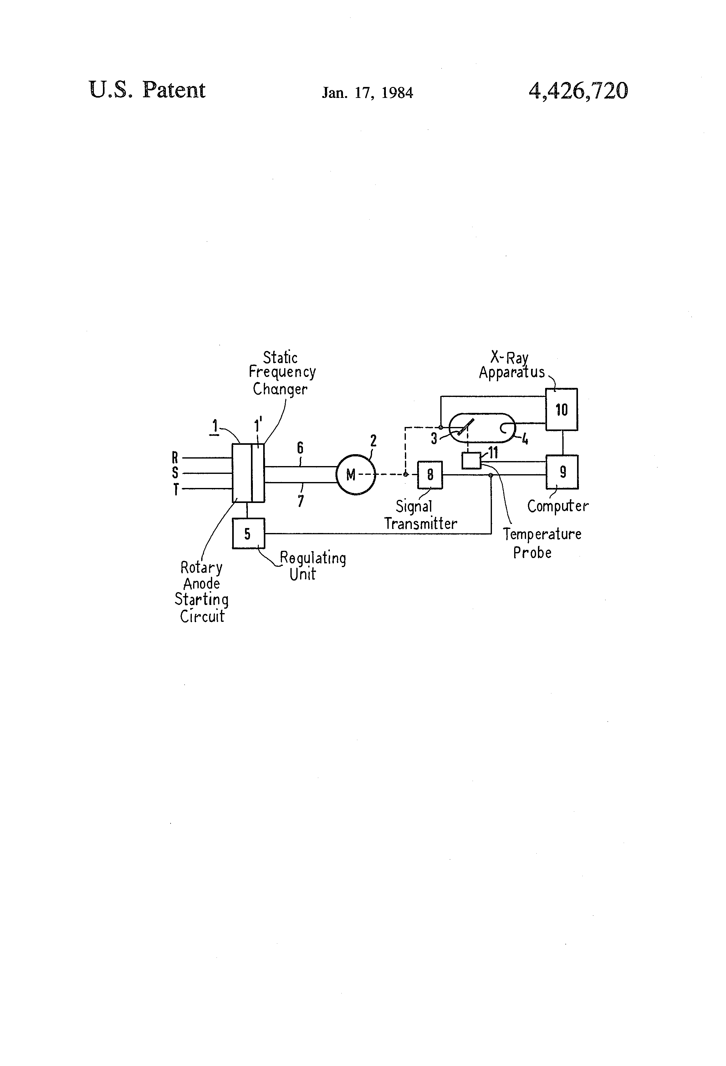 Patent Us4426720 Drive For Rotary Anodes Of X Ray Tubes Google Frequency Changer Circuit Drawing