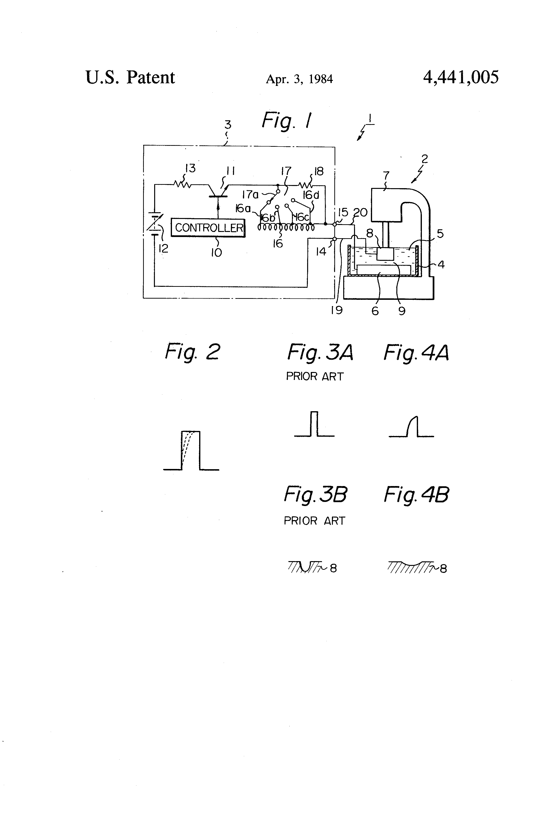 Patent US4441005 - EDM Pulse generator with a variable output