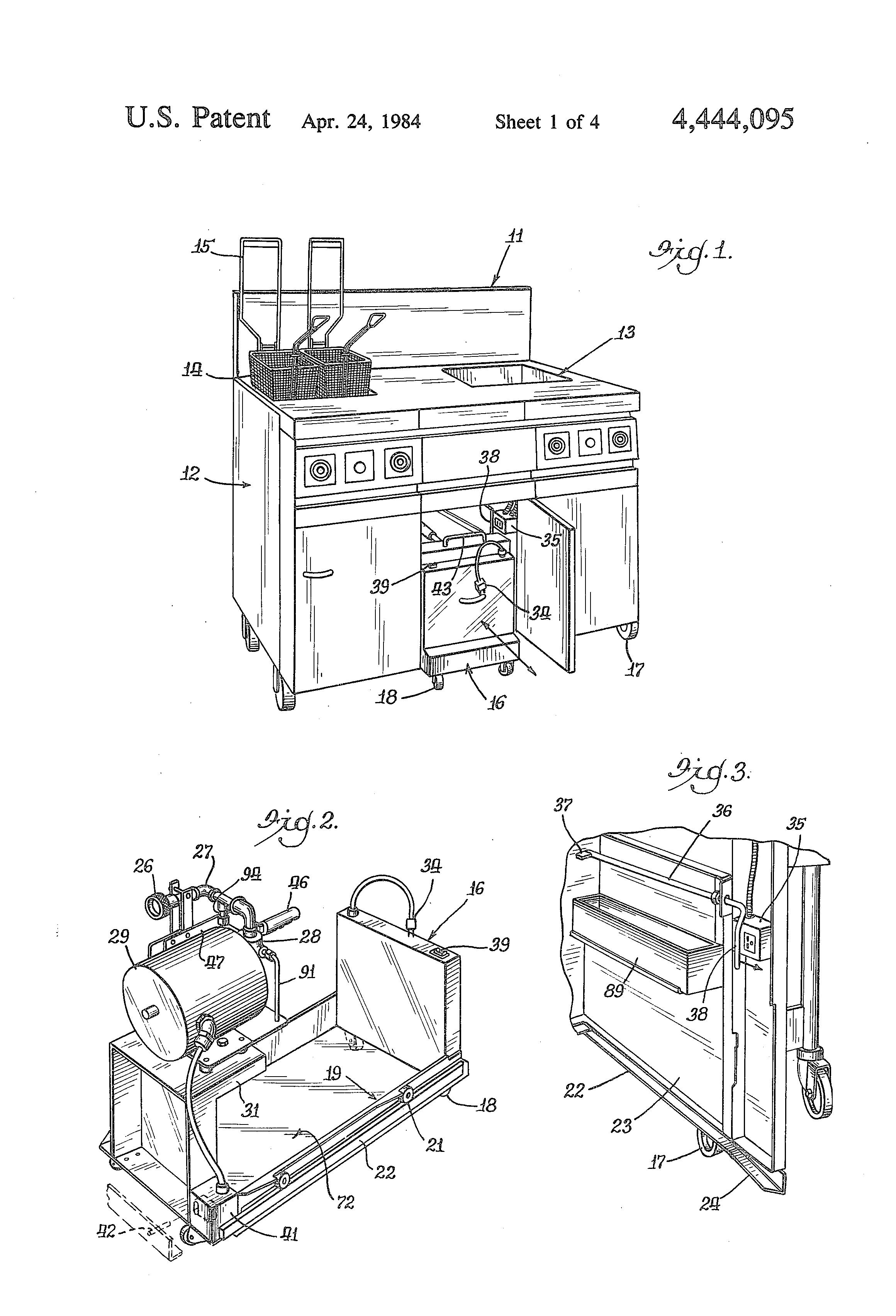 patent us4444095 - deep fat fryer system