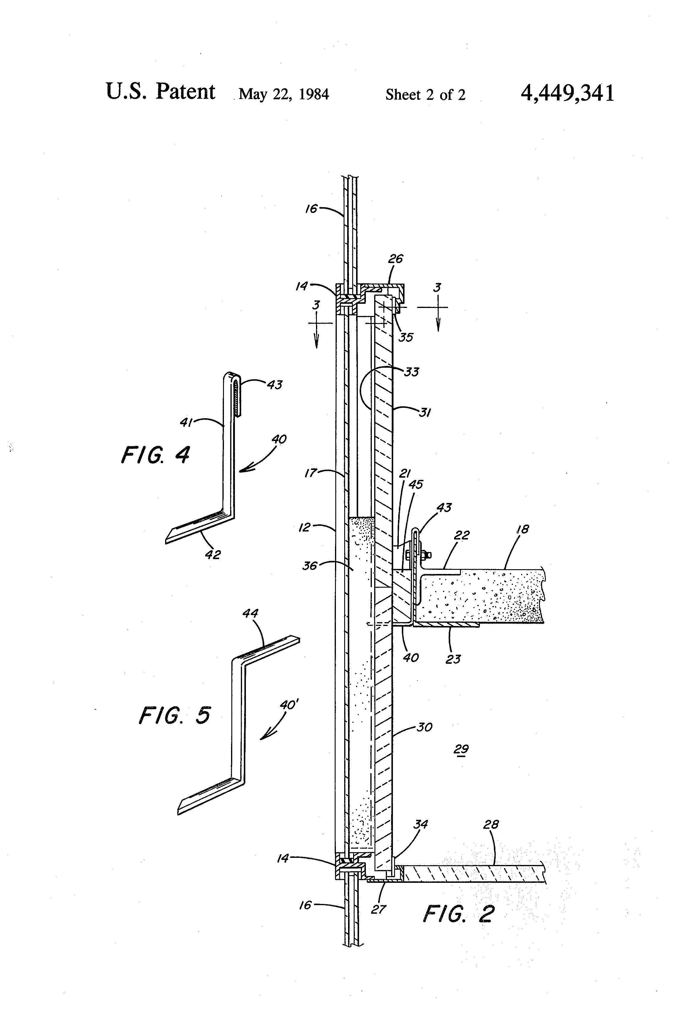 Patent Us4449341 Fire Containment Arrangement For