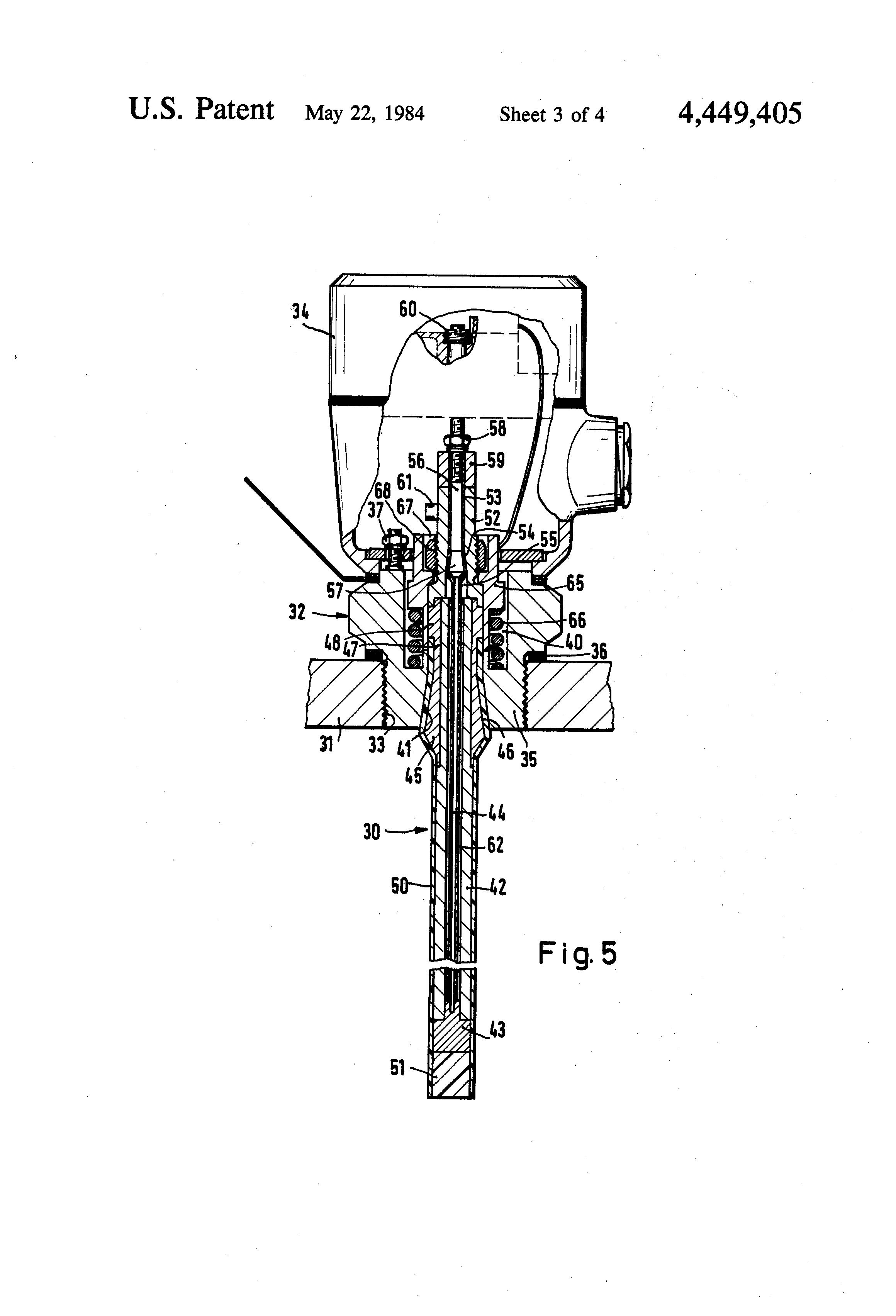 Us4449405 Rod Like Probe For The Capacitive Battery Testing Circuit Measuringandtestcircuit Diagram Patent Drawing