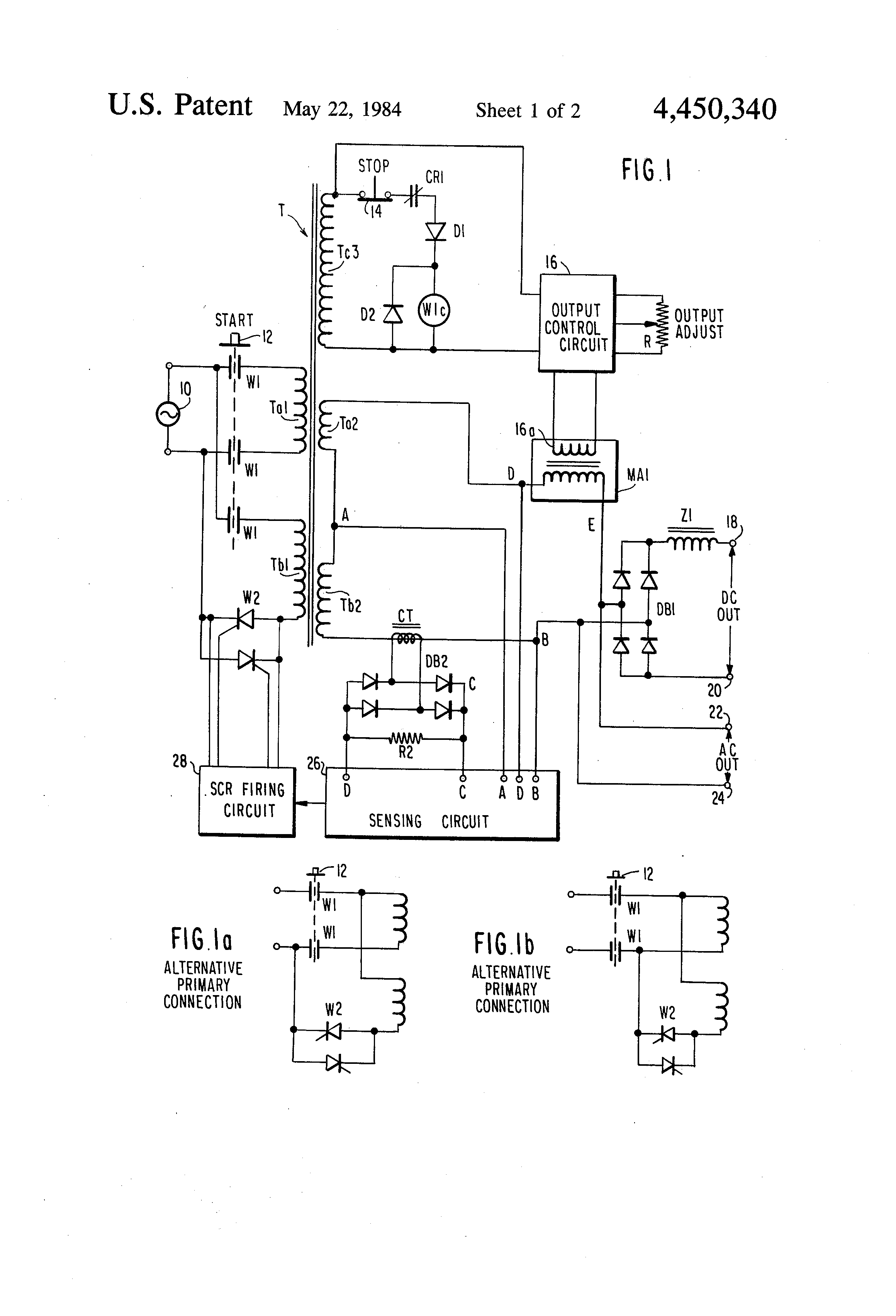 Arc Welding Circuit Diagram Wiring And Hub Welder Color Patent Us4450340 Power Supply With Fail Safe Dc Inverter
