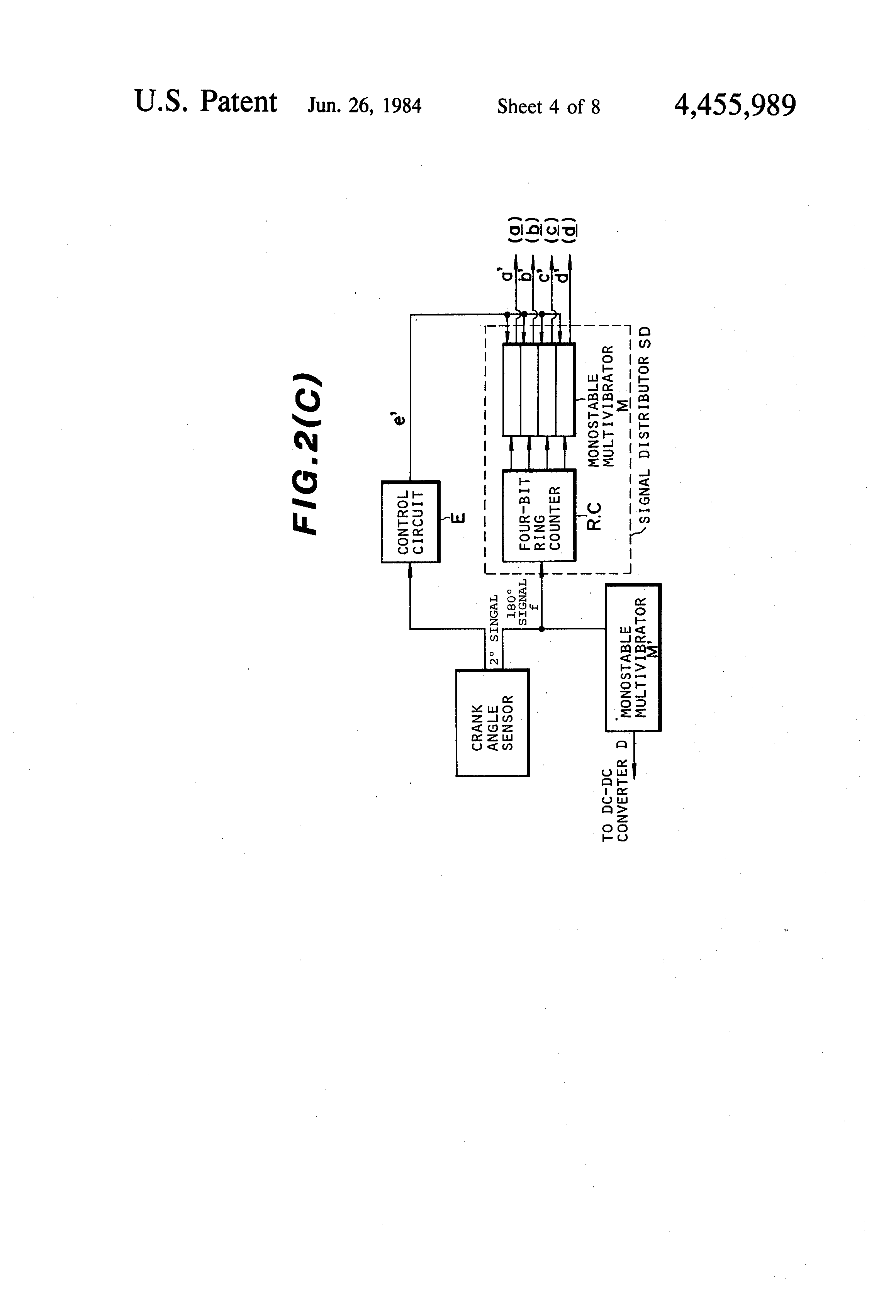 Patent Us4455989 Plasma Ignition System For Internal Combustion Ring Counter Circuit Diagram Drawing