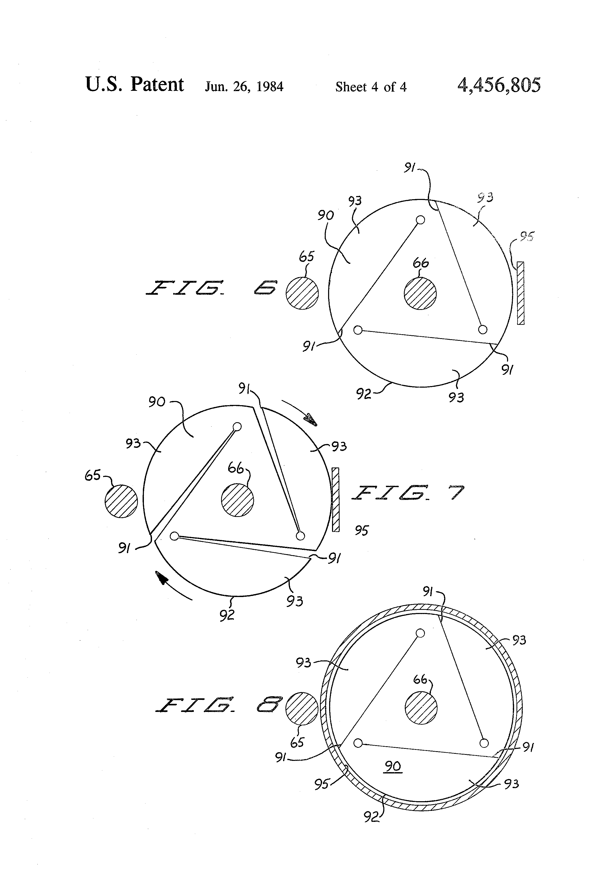 Patent Us4456805 Portable Turntable For Use In Microwave