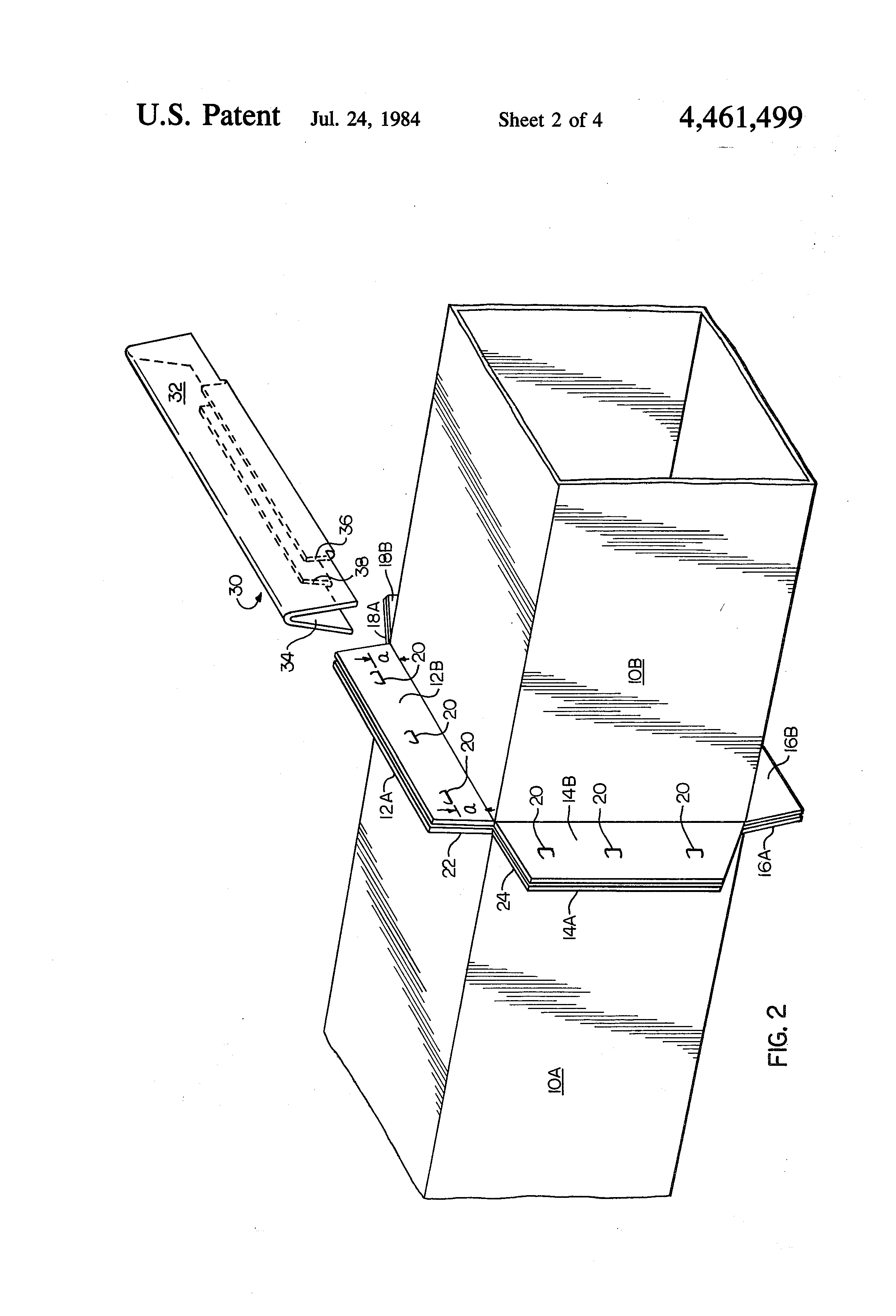 Patent Us4461499 Transverse Joint System For Sheet Metal