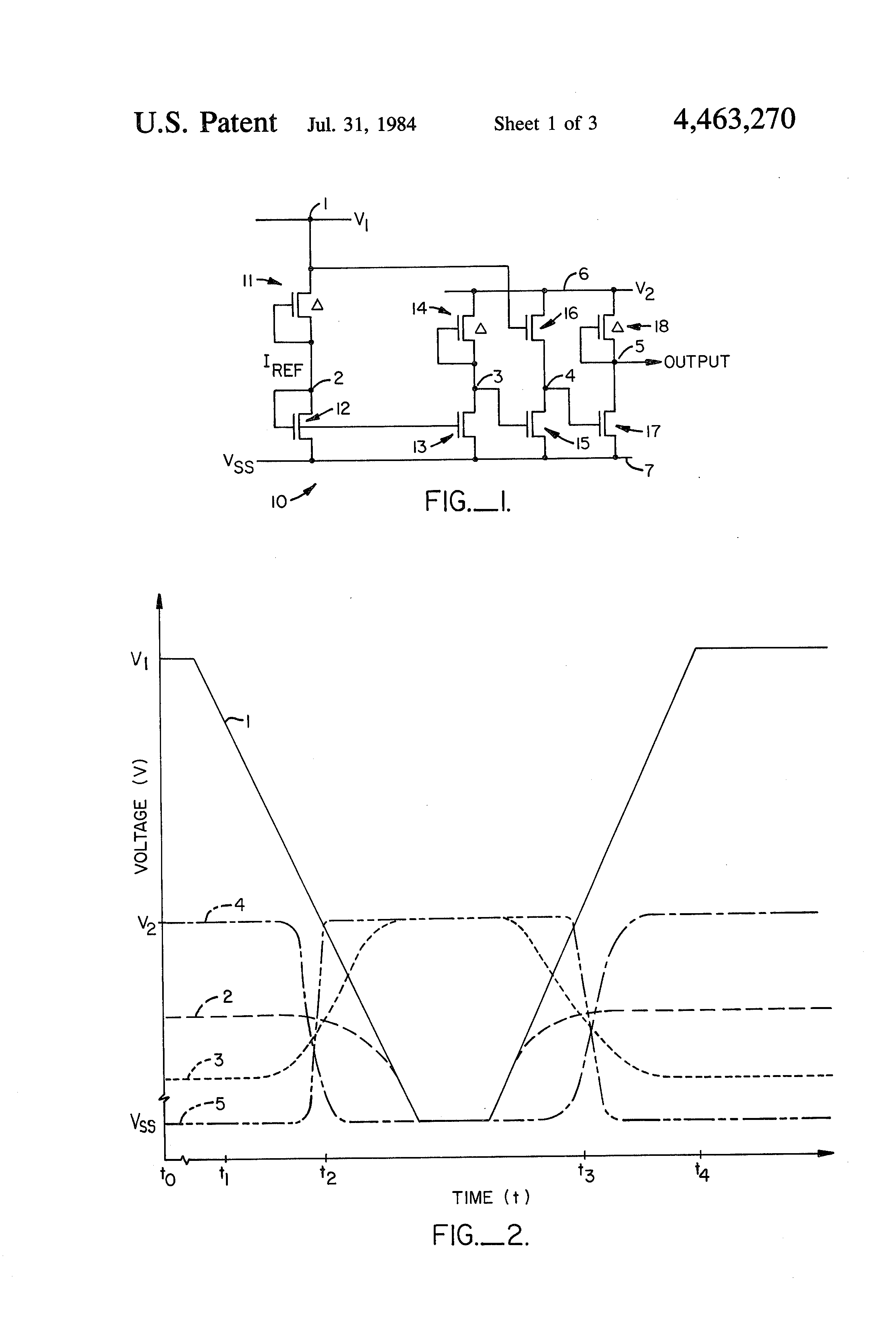 Us4463270 Mos Comparator Circuit Google Patent Drawing