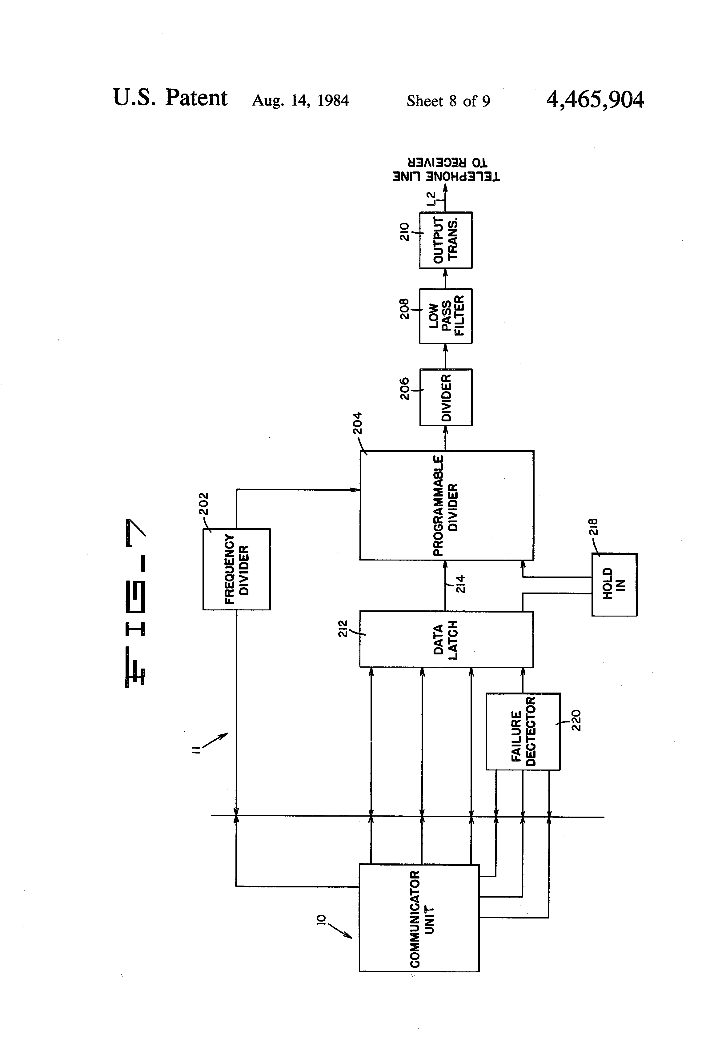 patent us4465904 - programmable alarm system