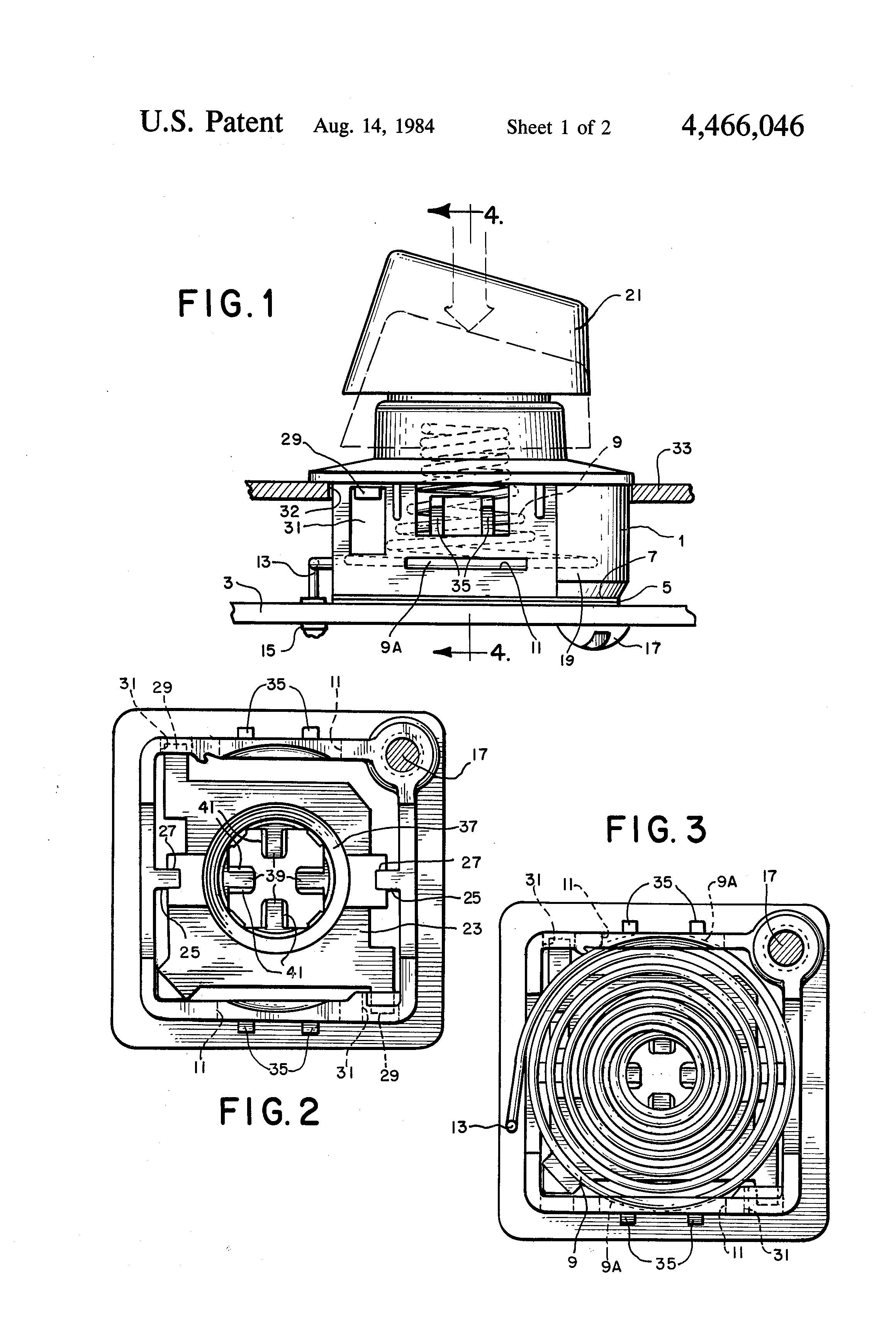 patent us4466046 - capacitive keyboard switch