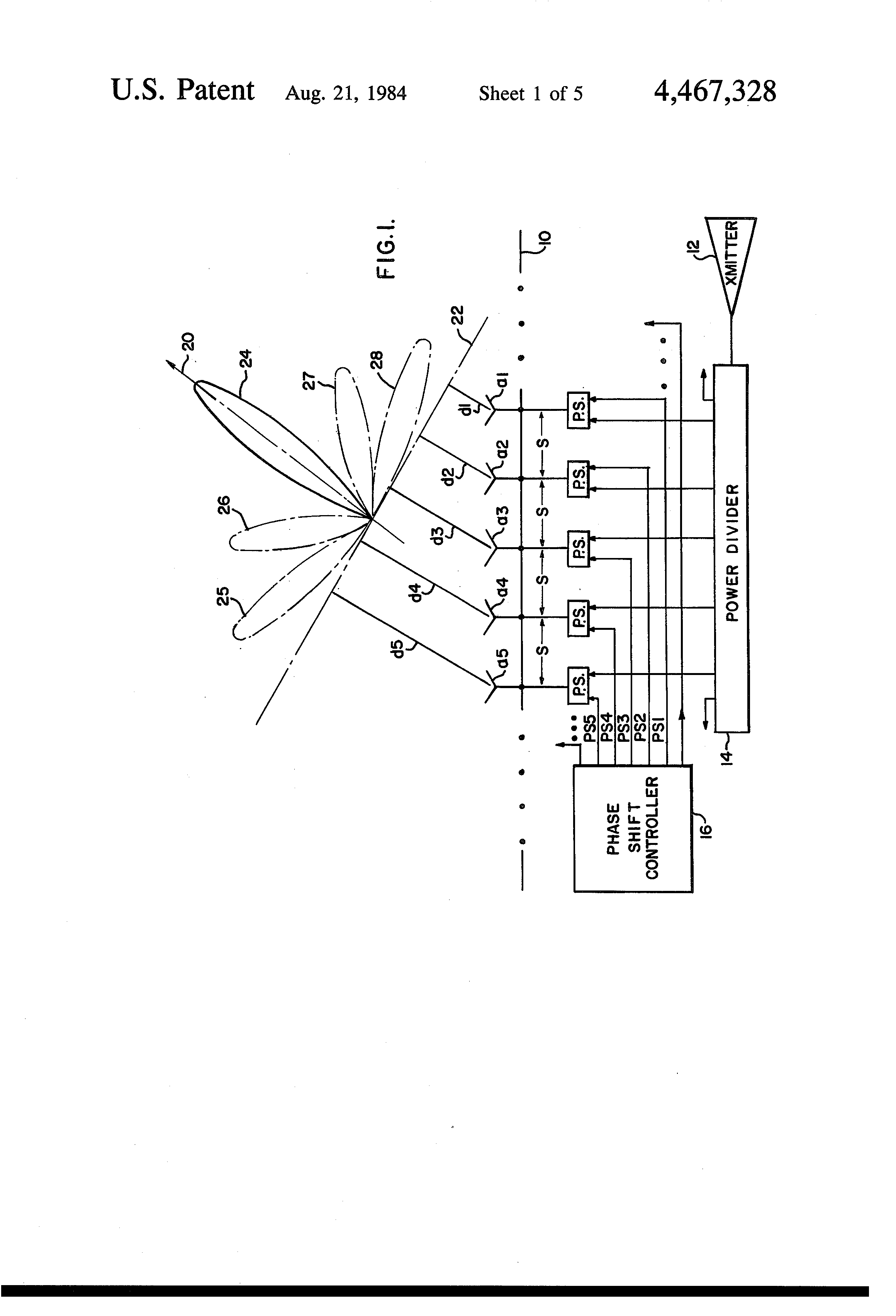 Patent Us4467328 Radar Jammer With An Antenna Array Of Pseudo Schematic Emp Generator Drawing