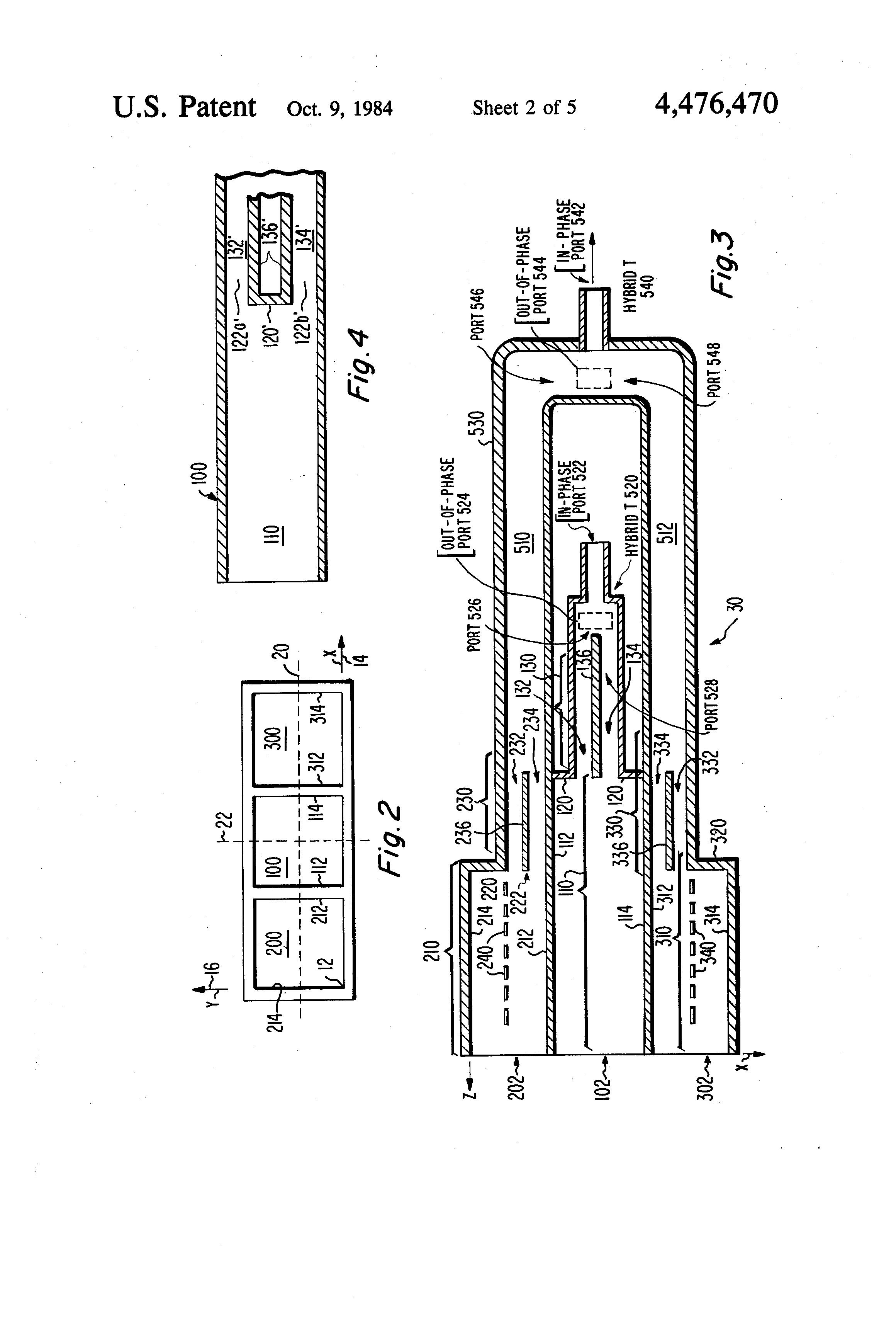 Patent US4476470 - Three horn E-plane monopulse feed - Google Patents
