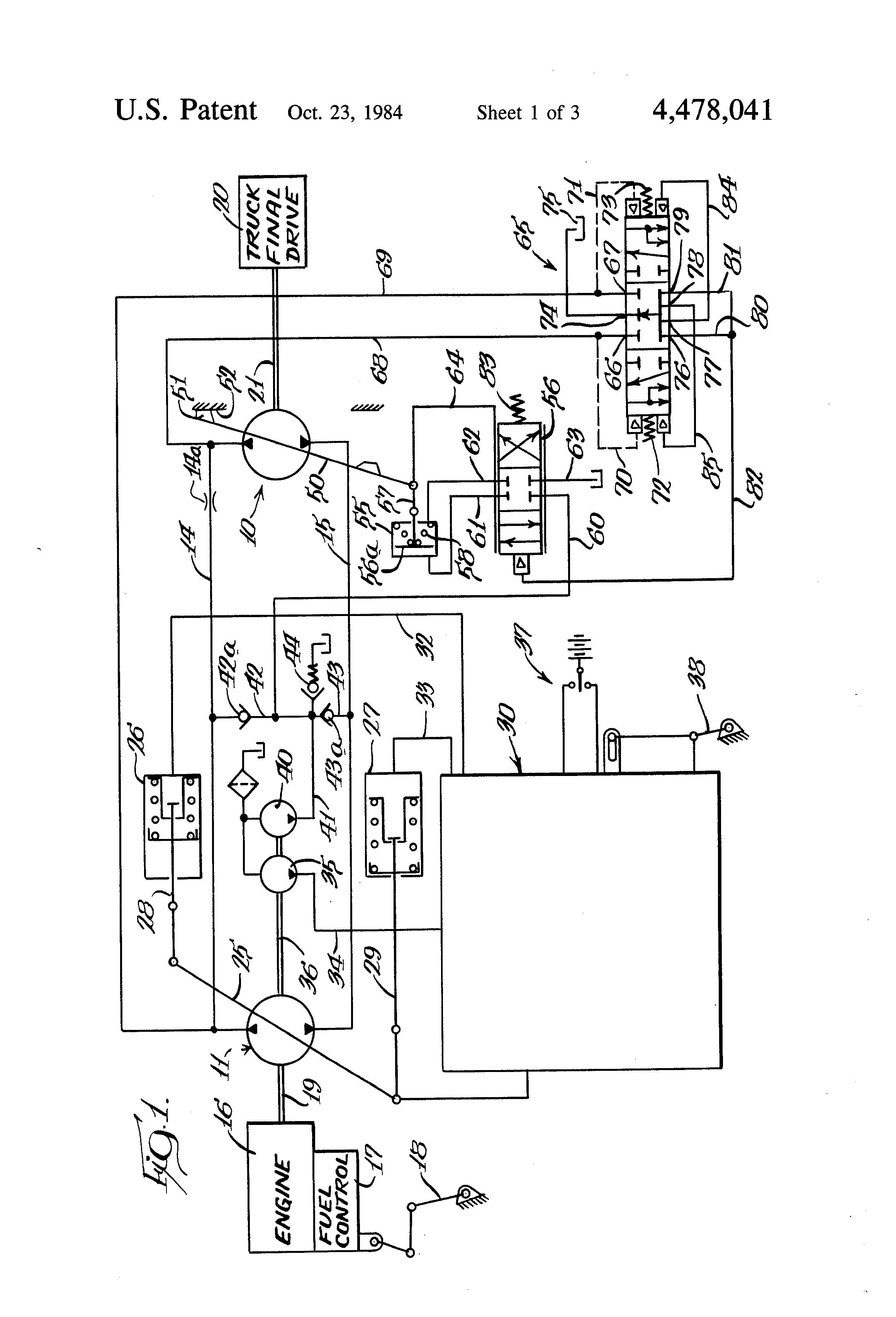 Patent US Hydraulic motor control Google Patents