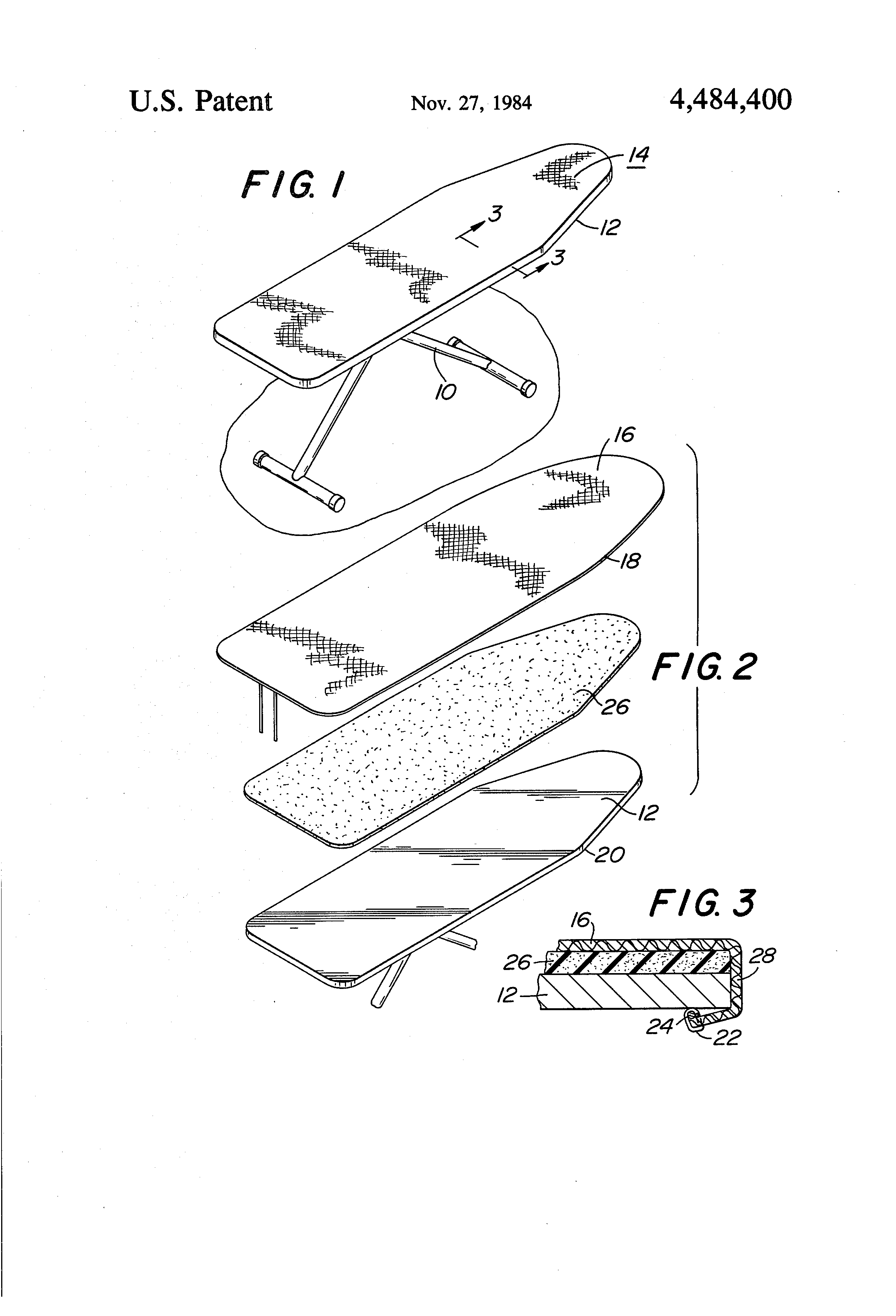 Us4484400 Copper Metallized Fabric For An Ironing Bobber Kz650 Wiring Diagram Patent Drawing