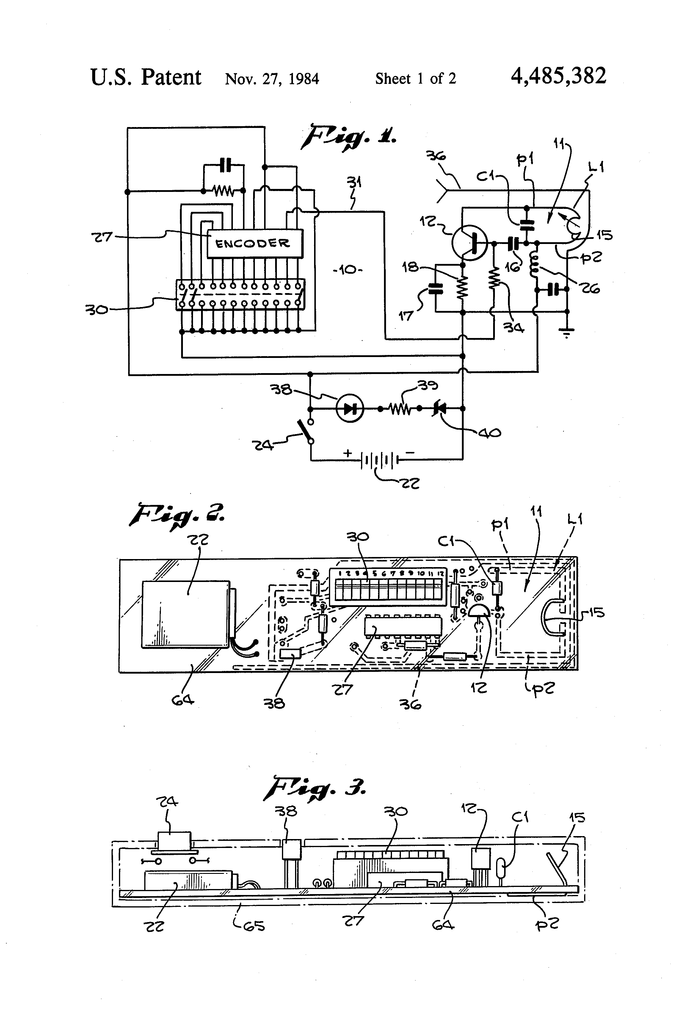 Patent Us4485382 Tuning Circuits With Bendable U Shaped Variable Use Of Inductor In A Circuit Drawing