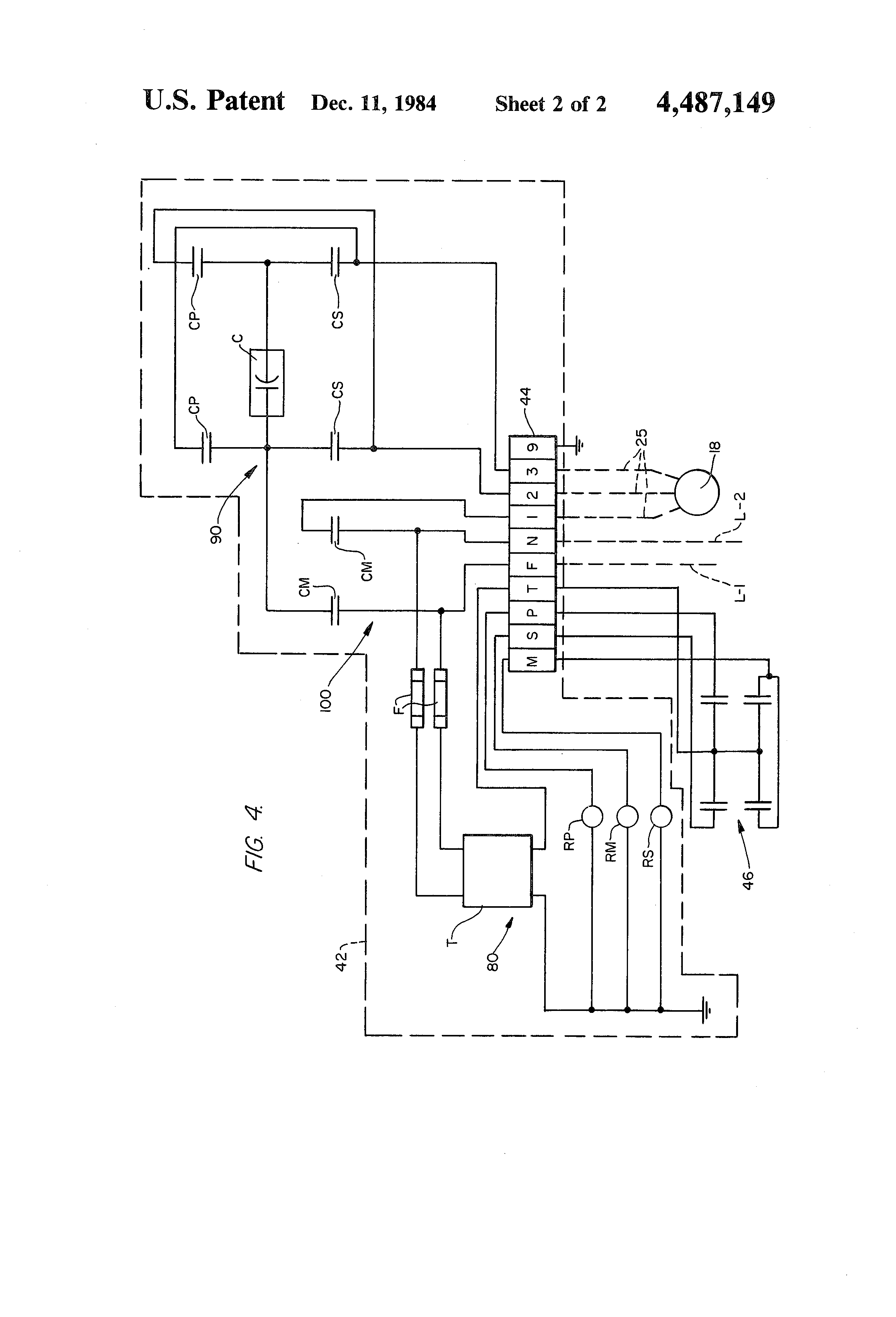 patent us4487149 - steering package for vessels