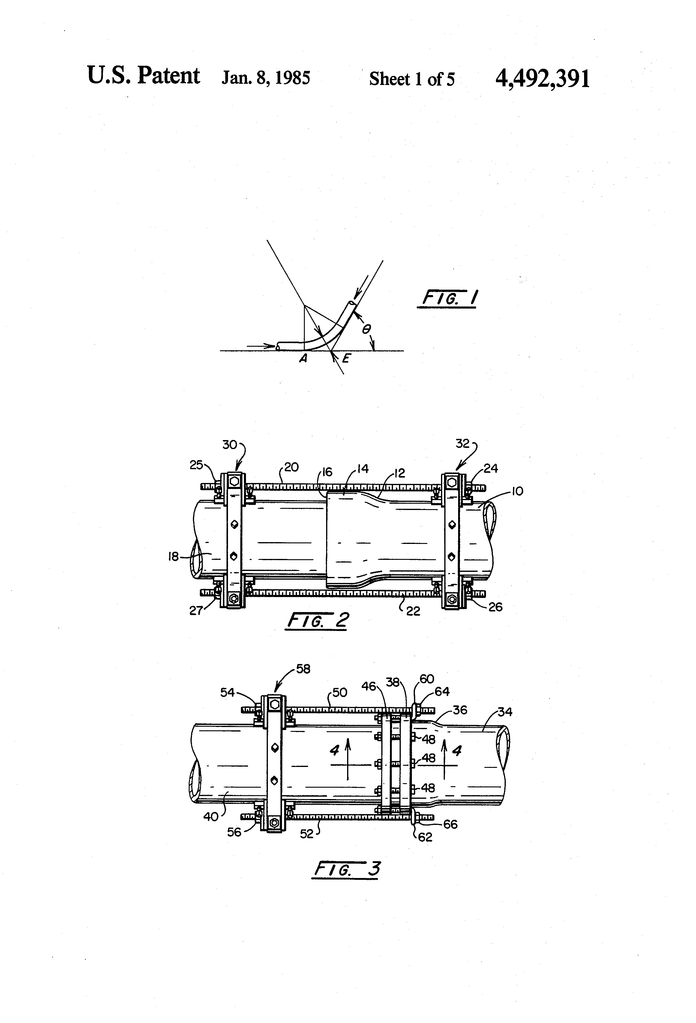 Patent Us4492391 Thrust Rod Anchor For Pipe Joint