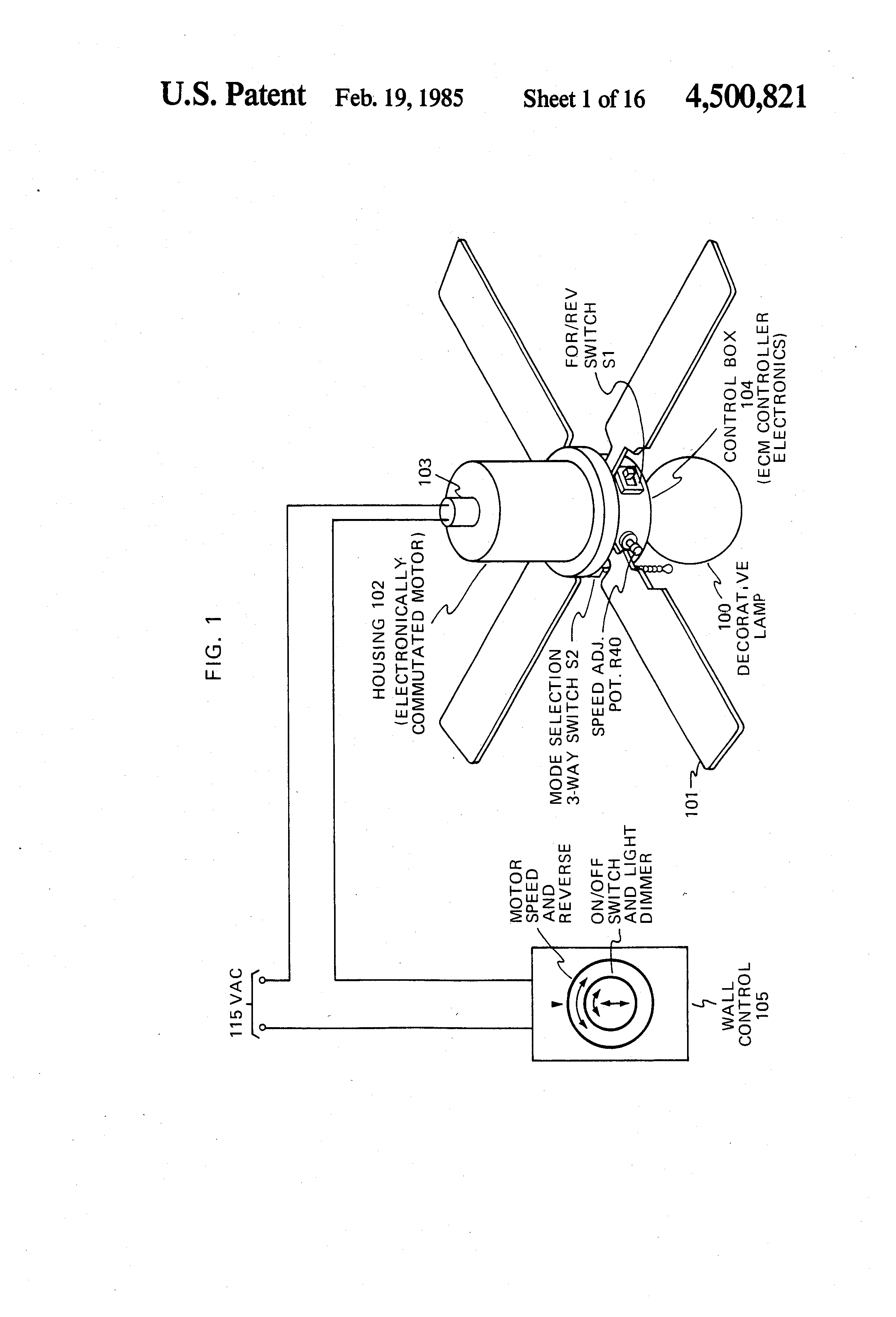 Patente Us4500821 Speed Or Torque Control Circuit For An The Time Delay With A Fet Controlcircuit Diagram Patent Drawing