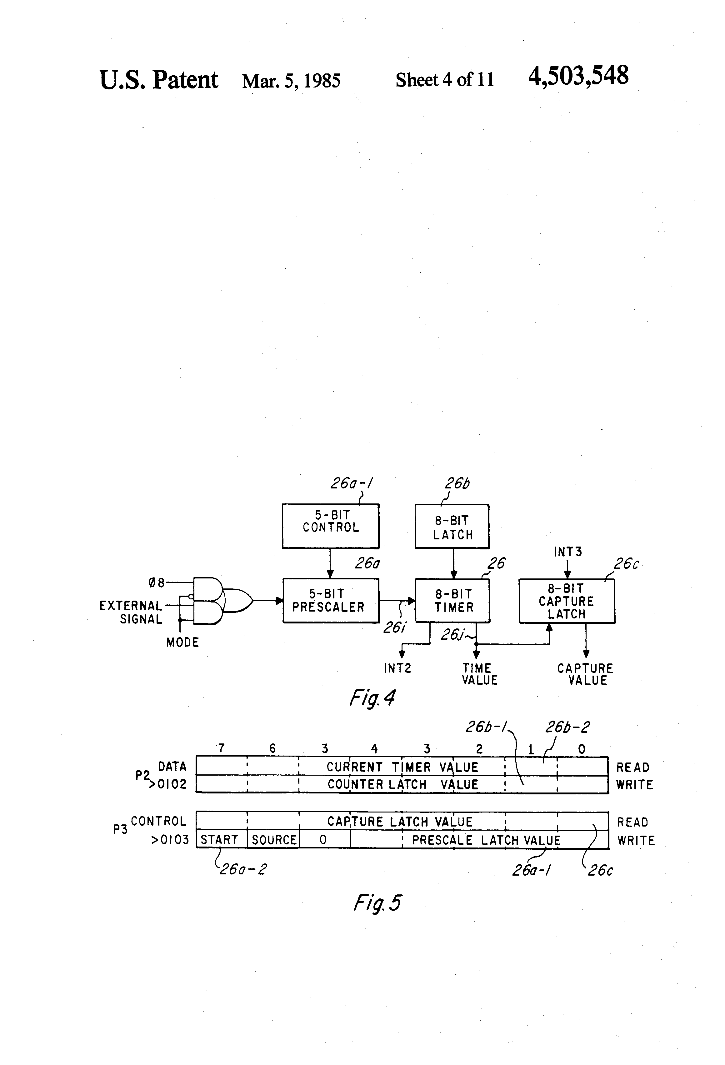 Patente Us4503548 Timer With Fast Counter Interrupt Google Patentes Watchdog The Common Clock Is Characteristic Of Basic Patent Drawing