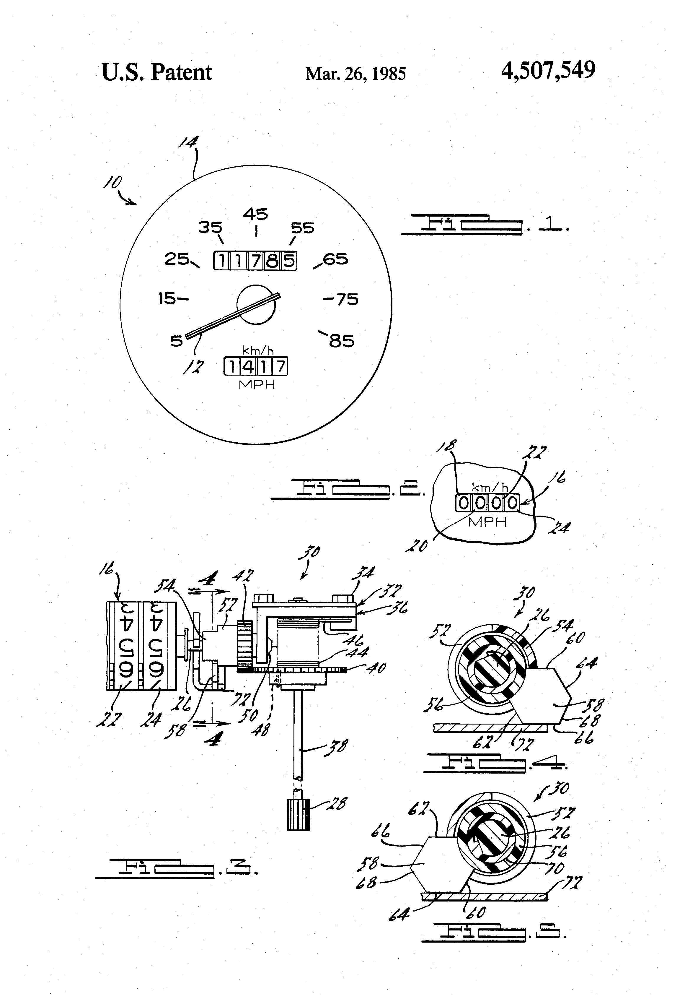 Brevet US4507549 - Odometer reset mechanism - Google Brevets
