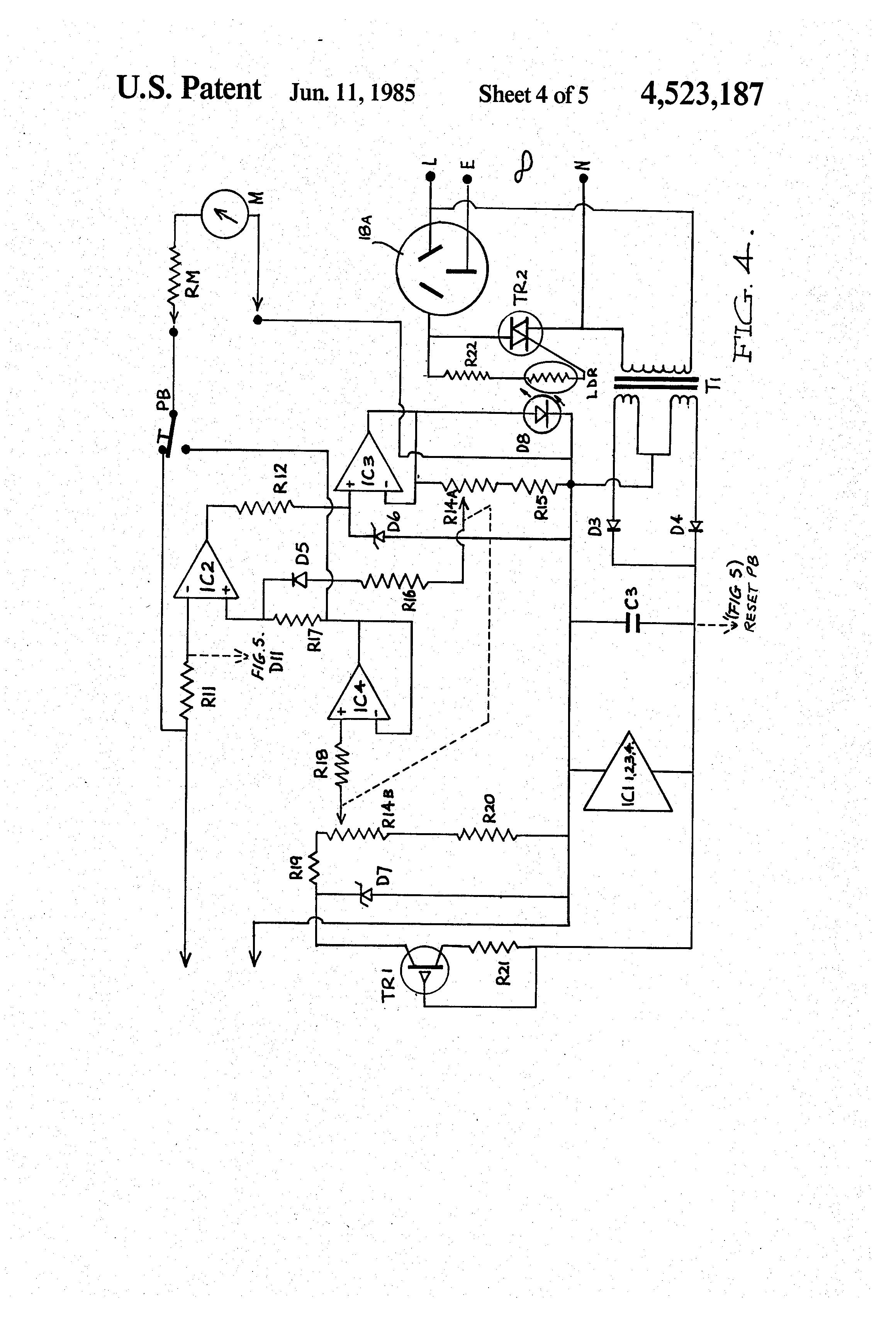 Patent Us4523187 Alarm System For Electric Fences