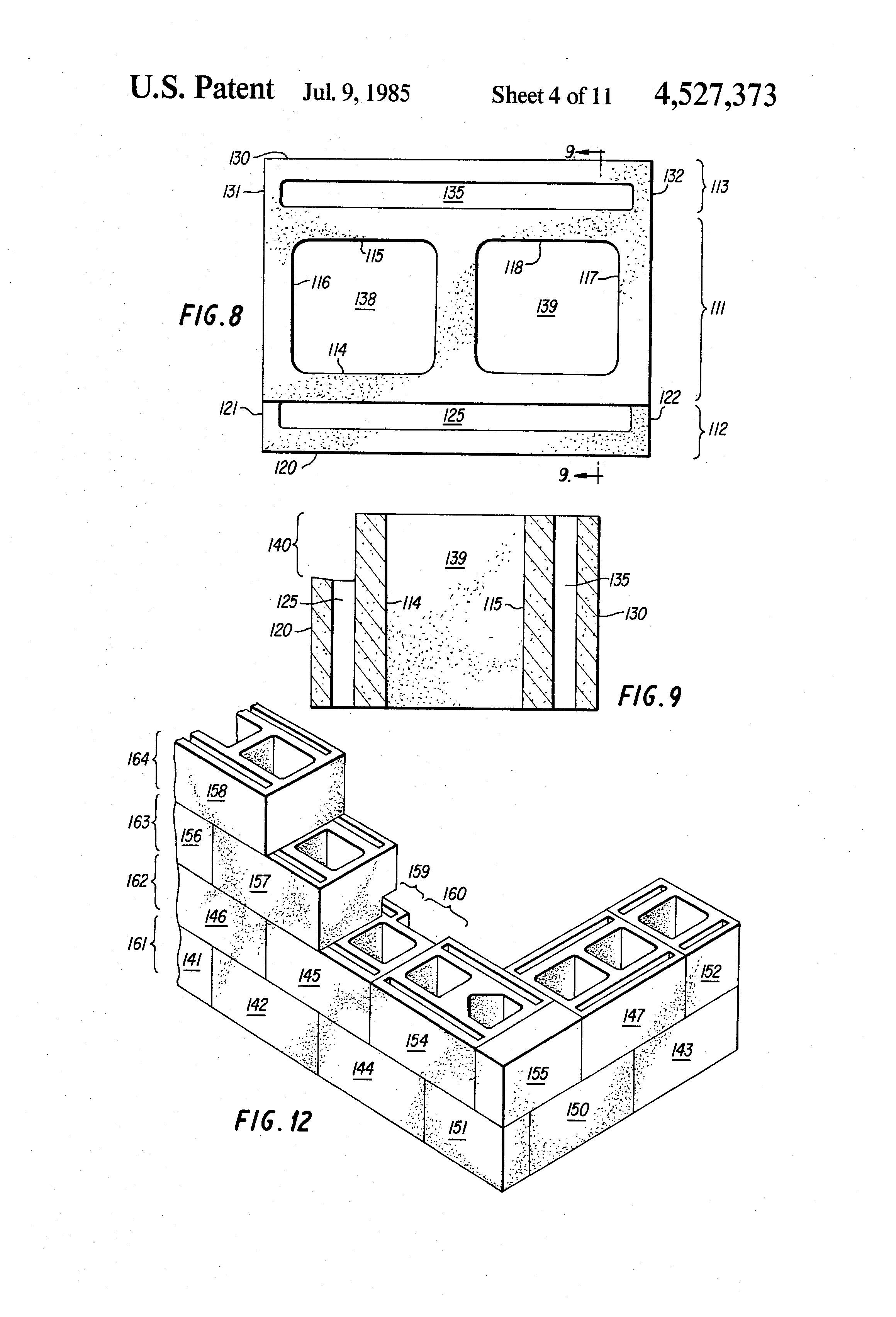 Patent us4527373 insulated concrete masonry unit with for Insulated concrete masonry units