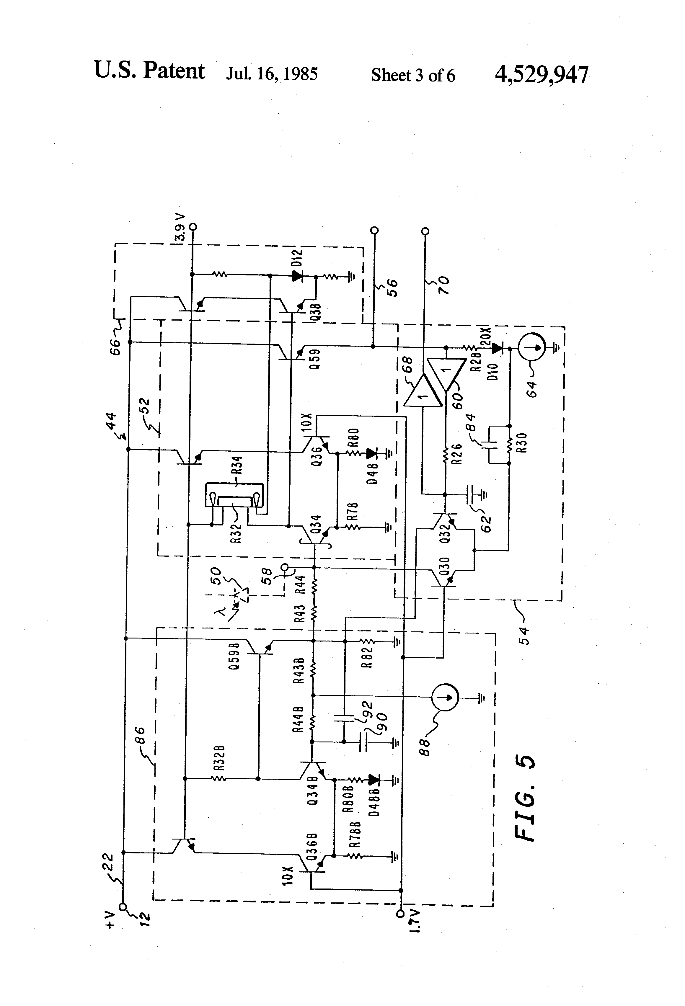 patent us4529947 - apparatus for input amplifier stage