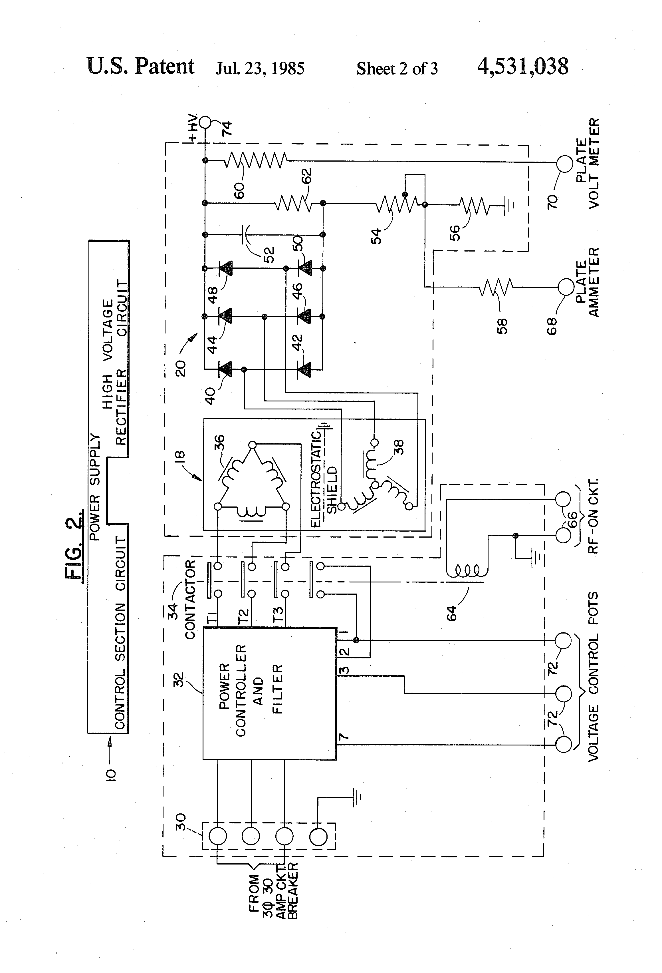 Patent Us4531038 Radio Frequency Dielectric Heater Google Patents Vacuum Tube Schematic Diagram Drawing