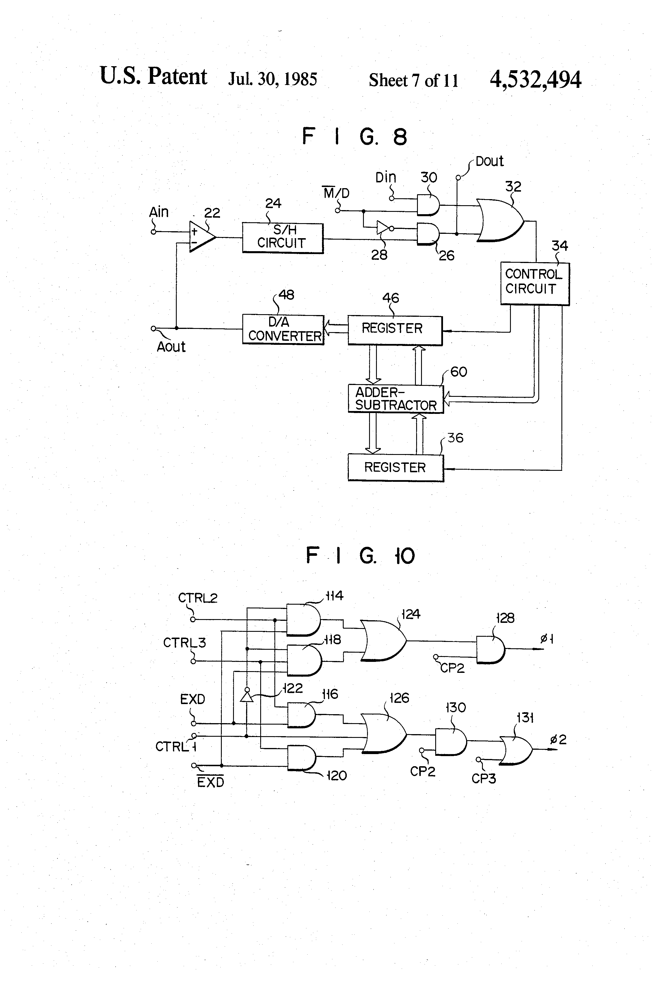 Us4532494 Adaptive Delta Codec Which Varies A The Following Adder Subtractor Circuit An 8 Bit Patent Drawing