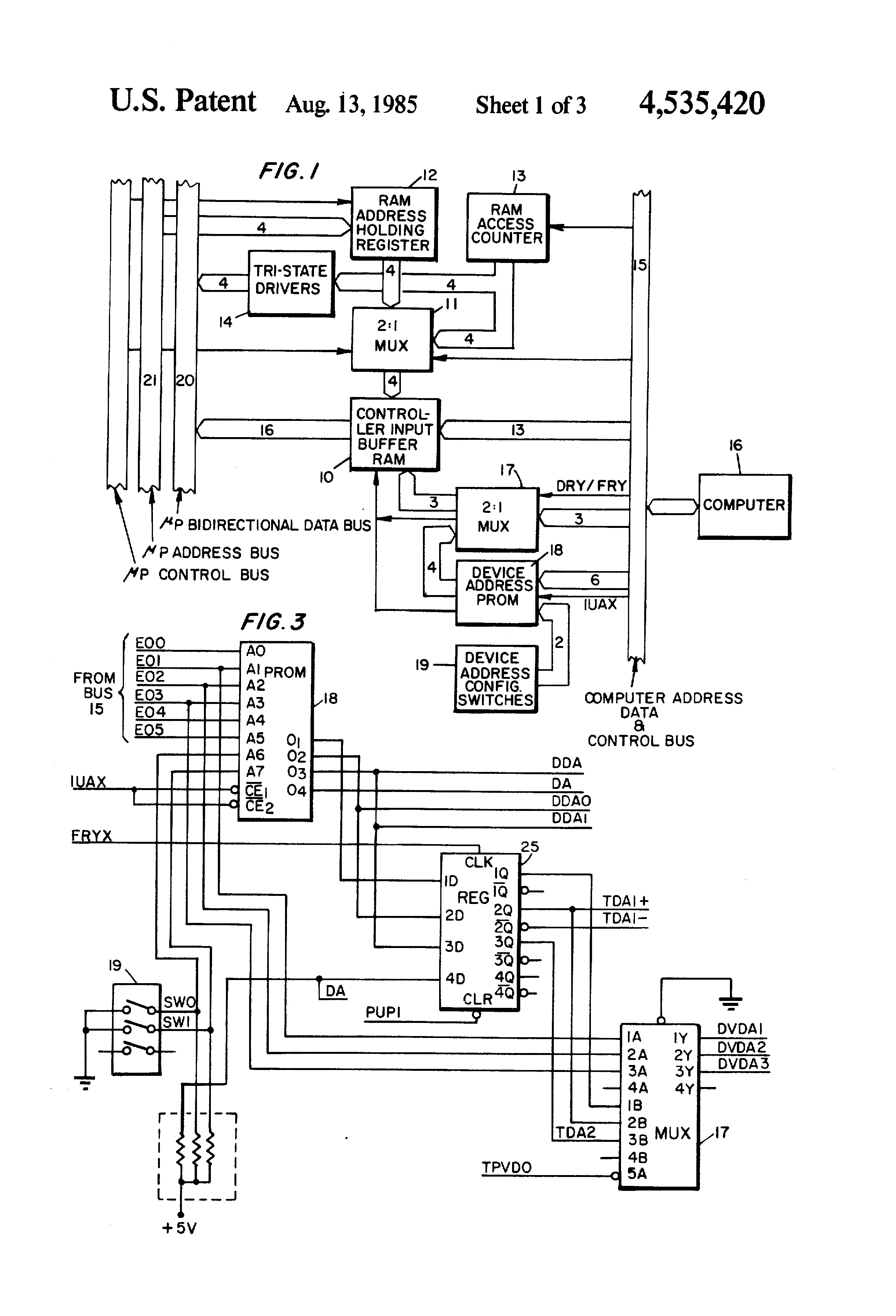 Us4535420 Circular Queue Structure Z80 Circuit Diagram Patent Drawing