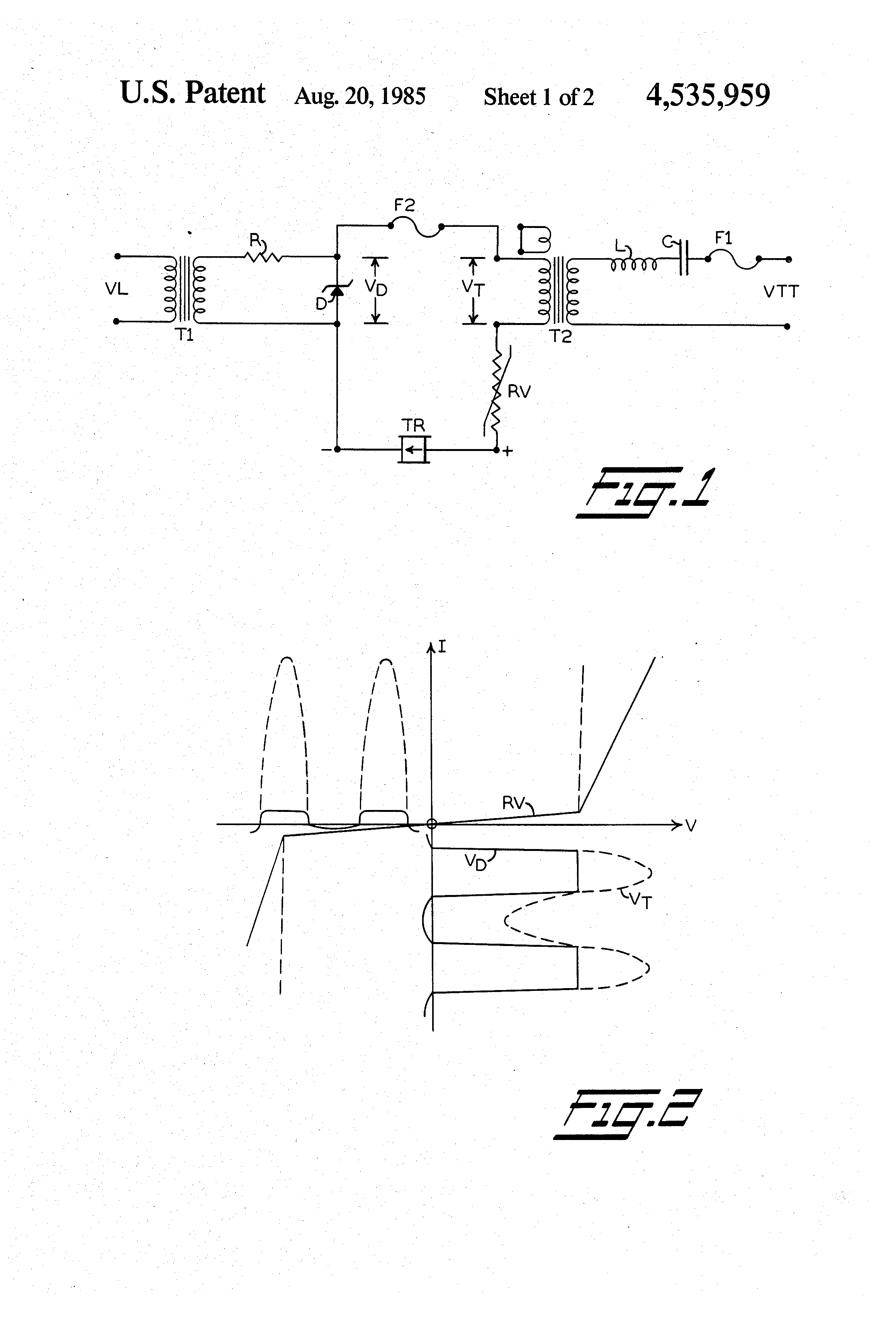 Patent Us4535959 Vital Solid State Relay For Railroad Alternating Current Circuits Drawing