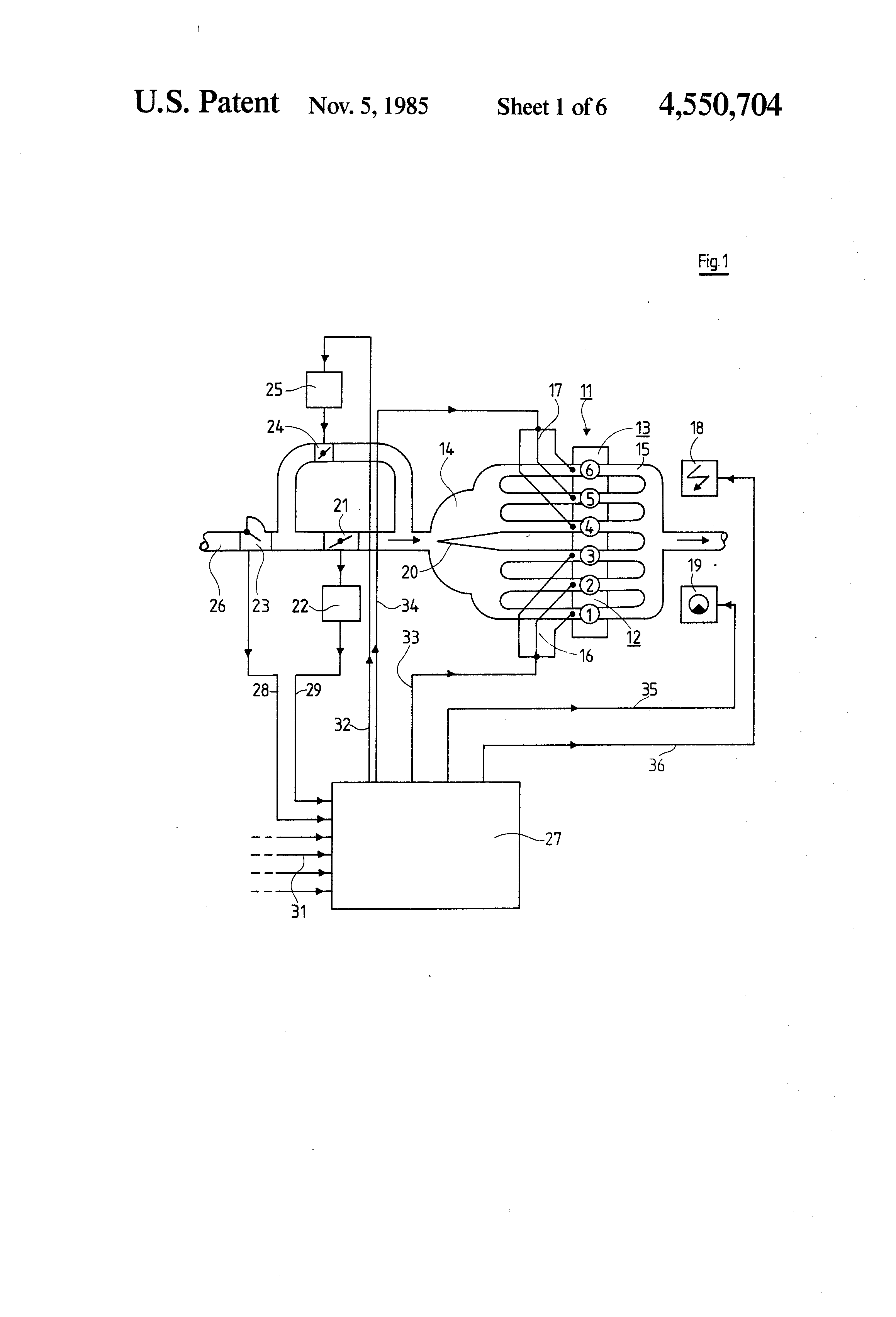 Patent Us4550704 Multi Cylinder Internal Combustion Engine Having Block Diagram The Diesel Has Drawing