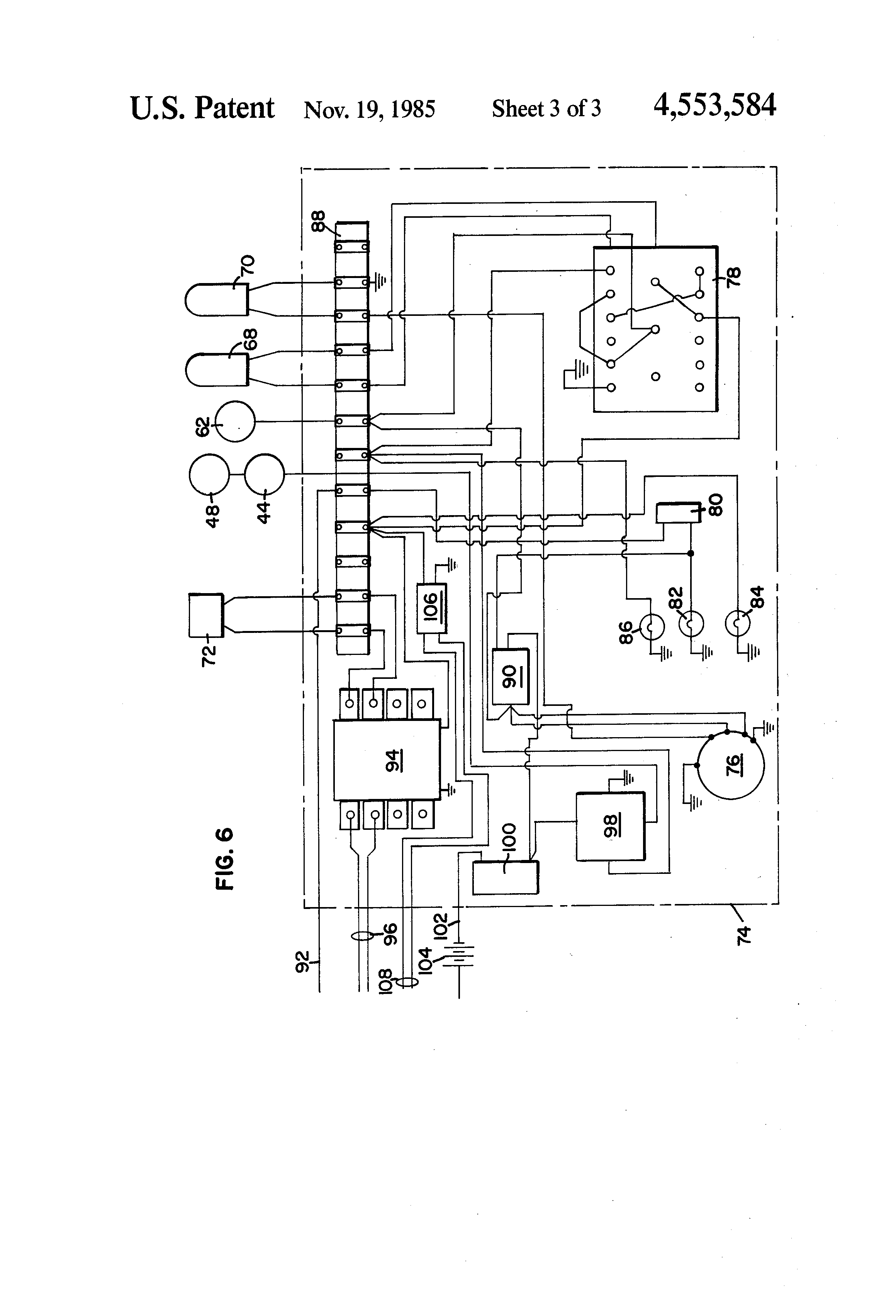 patent us4553584 - refrigeration/air exchanger system ... 7 plug truck wiring diagram for ford truck refrigerated truck wiring diagram