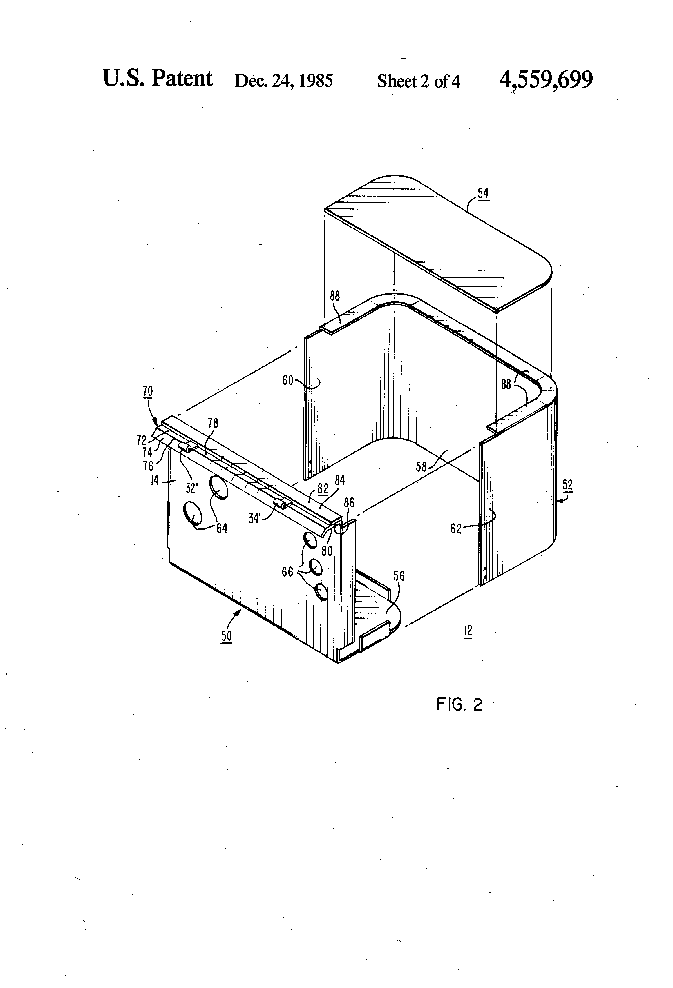 patent us4559699 - method of constructing a padmounted distribution transformer