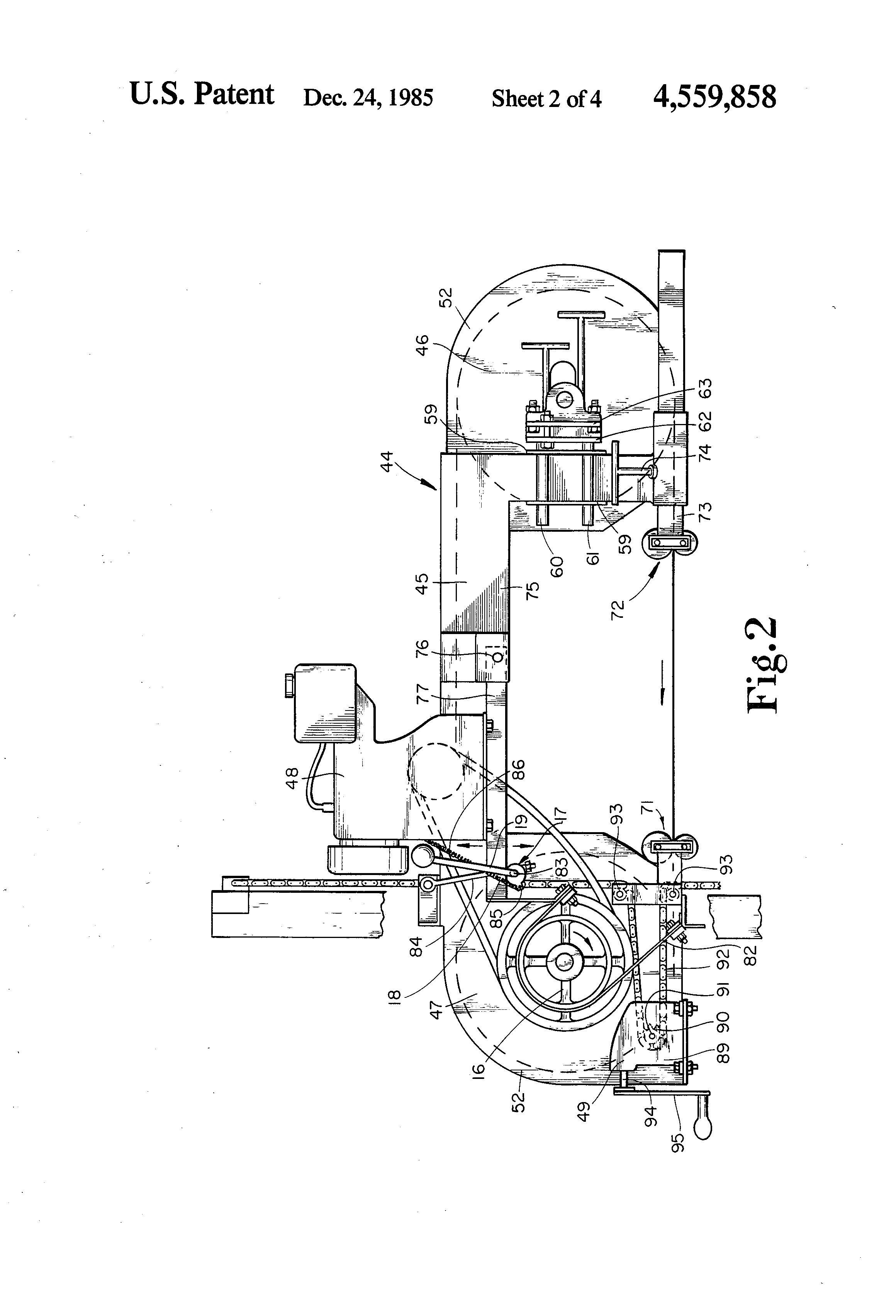 Patent Us4559858 Portable Band Saw Saw Mill Apparatus