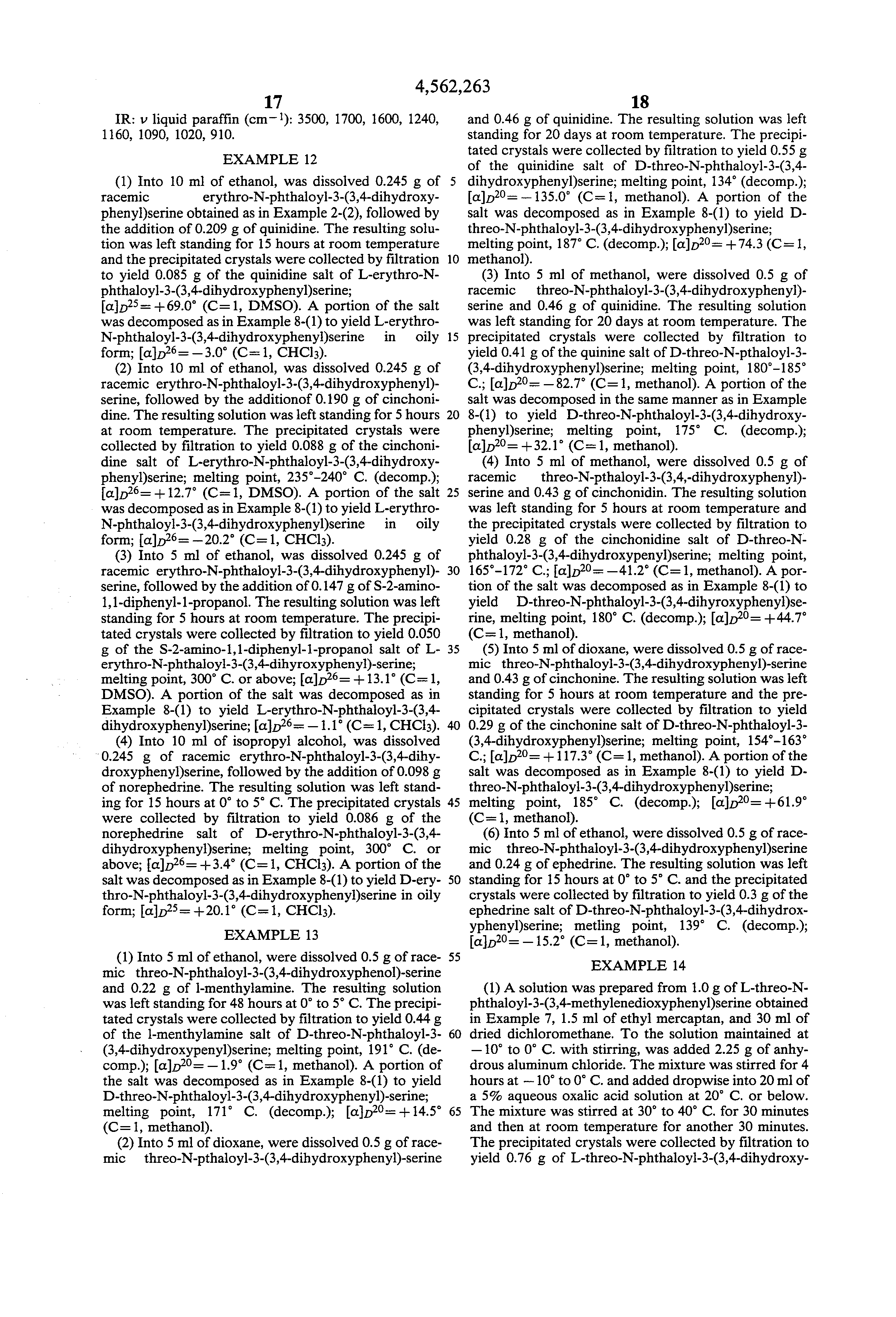 patent us process for producing dihydroxyphenyl  patent drawing