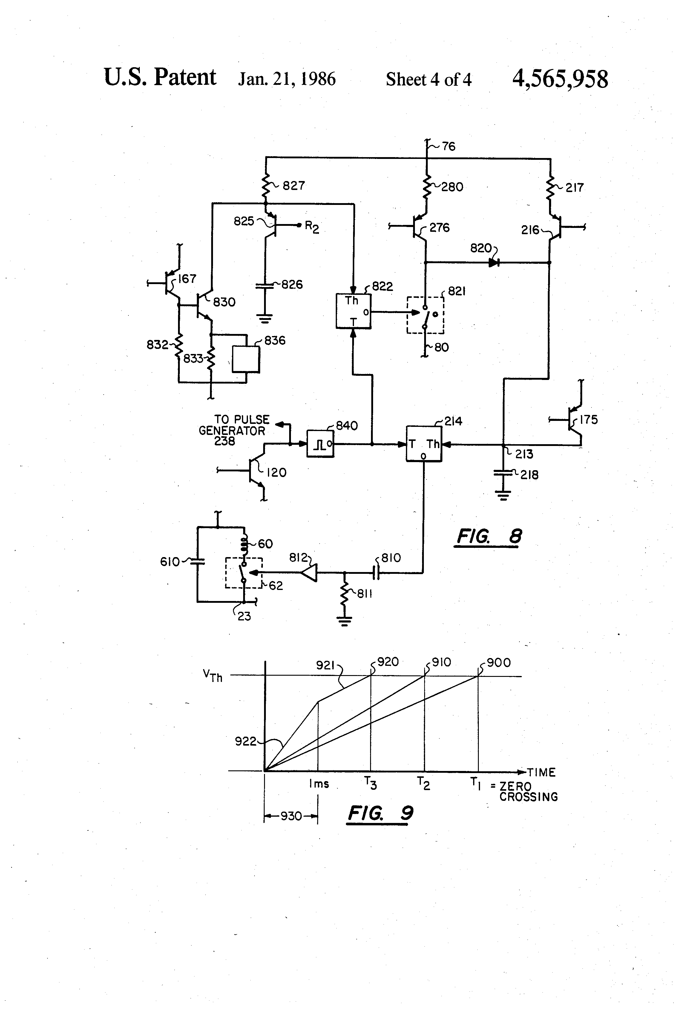 Patent Us4565958 Ac Line Voltage Regulator With Controlled Energy 555 Timer Ramp Generator Drawing