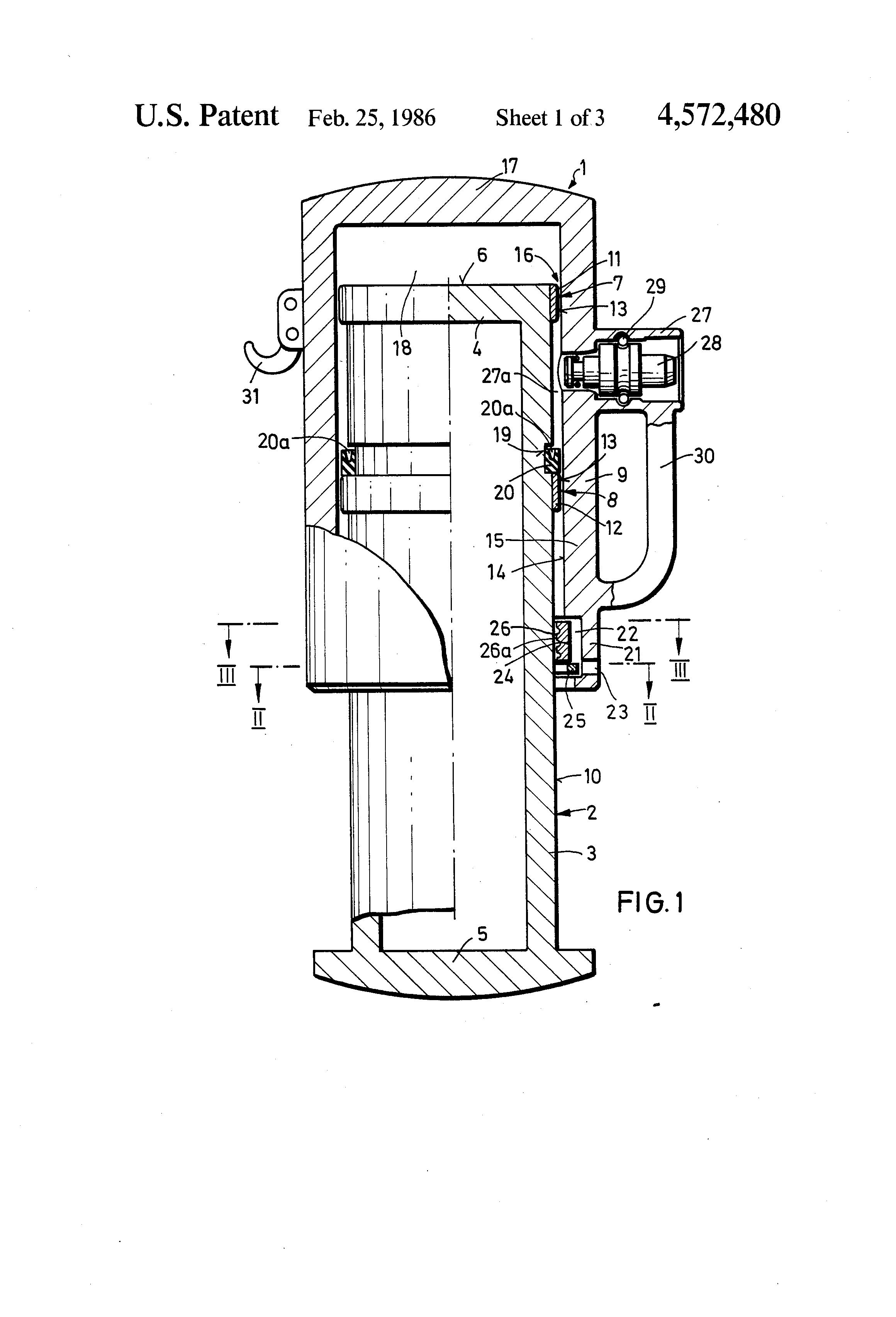 patent us4572480 - hydraulic prop