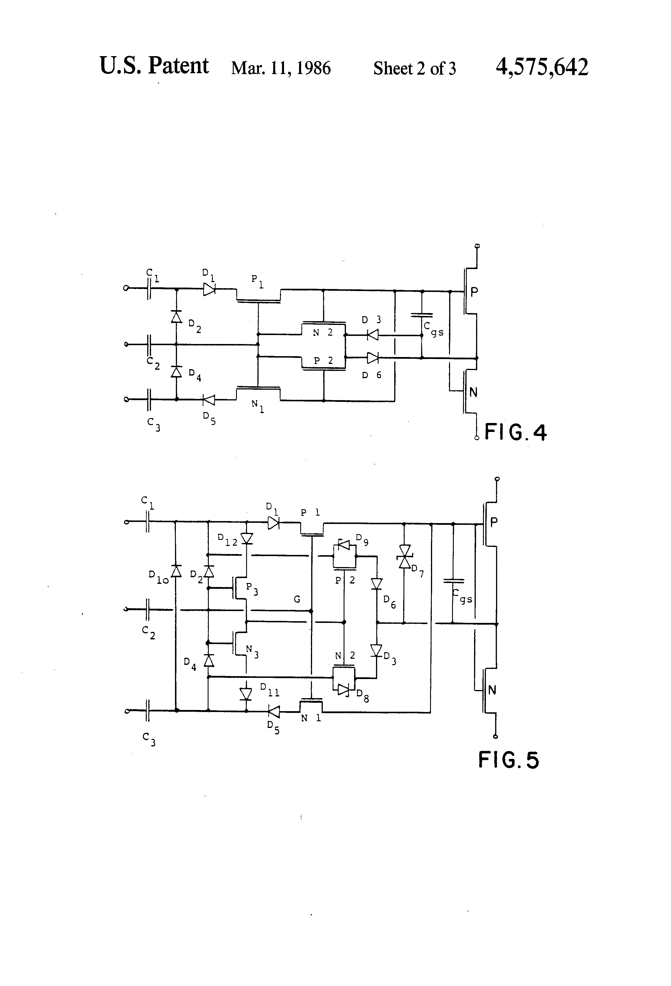 The Time Delay Circuit With A Fet Controlcircuit Diagram Patent Us4575642 Control For An Integrated Device Google Drawing