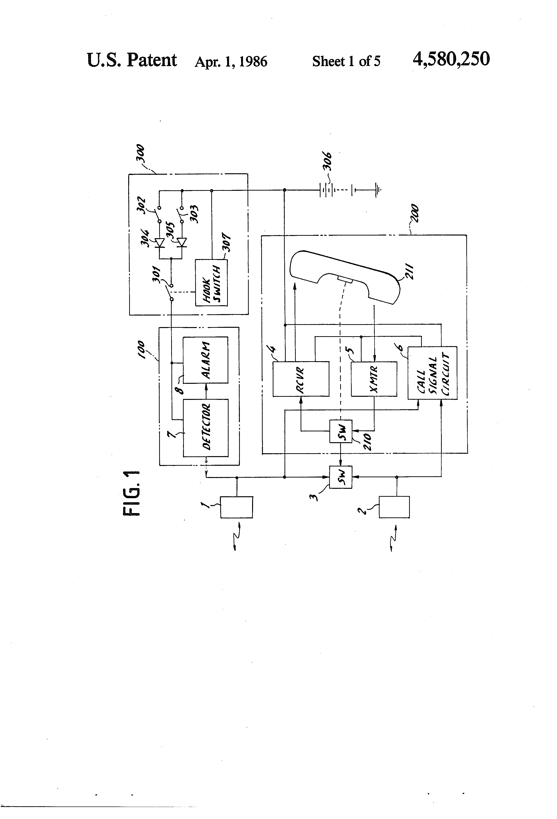 Patent Us4580250 Ultrasonic Detection And Communication System For Digital Combination Lock Using Cd4013 Simple Electronic Circuit Drawing