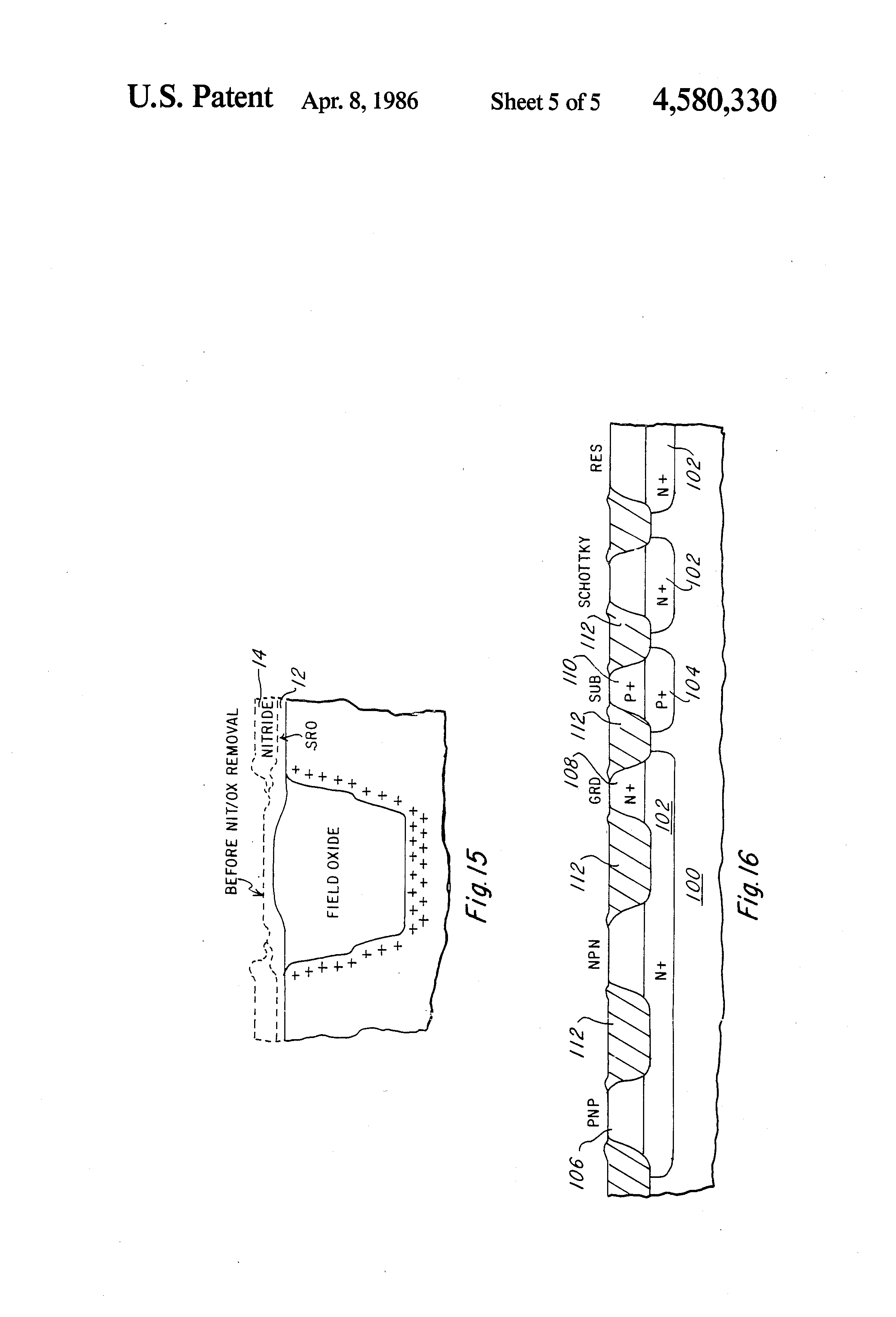 patent us4580330 - integrated circuit isolation