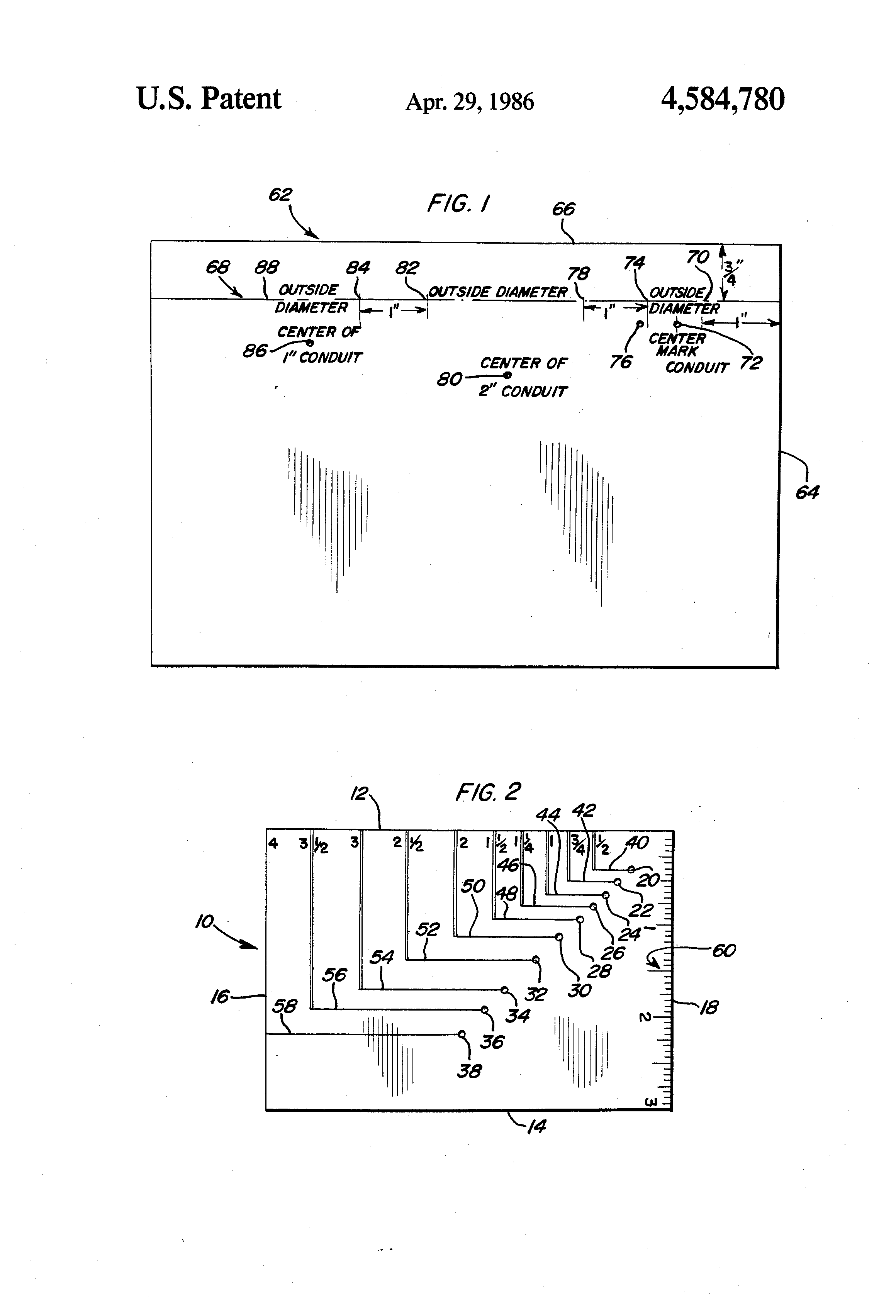 Patent US4584780 - Layout template for electrical panel - Google ...