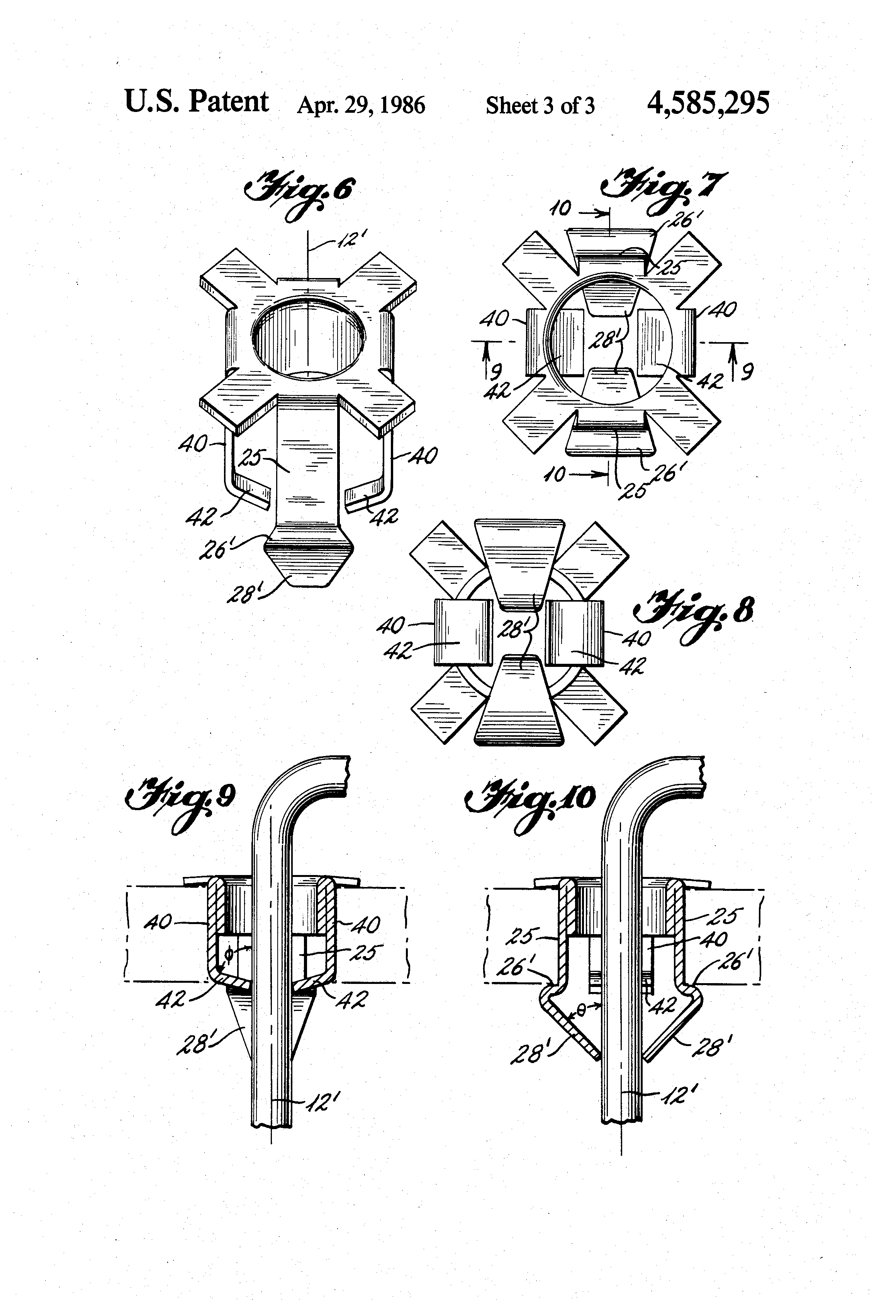 patent us4585295 - circuit board eyelet-type wire gripper