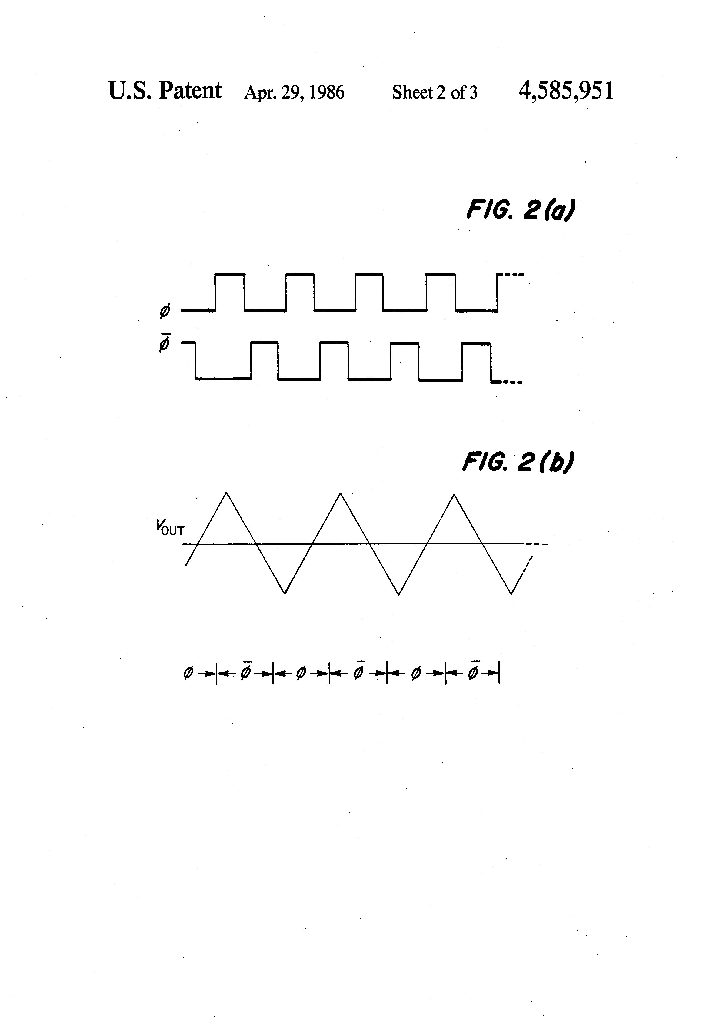 Us4585951 Precision Triangle Waveform Generator Logic Gate Generation Patent Drawing