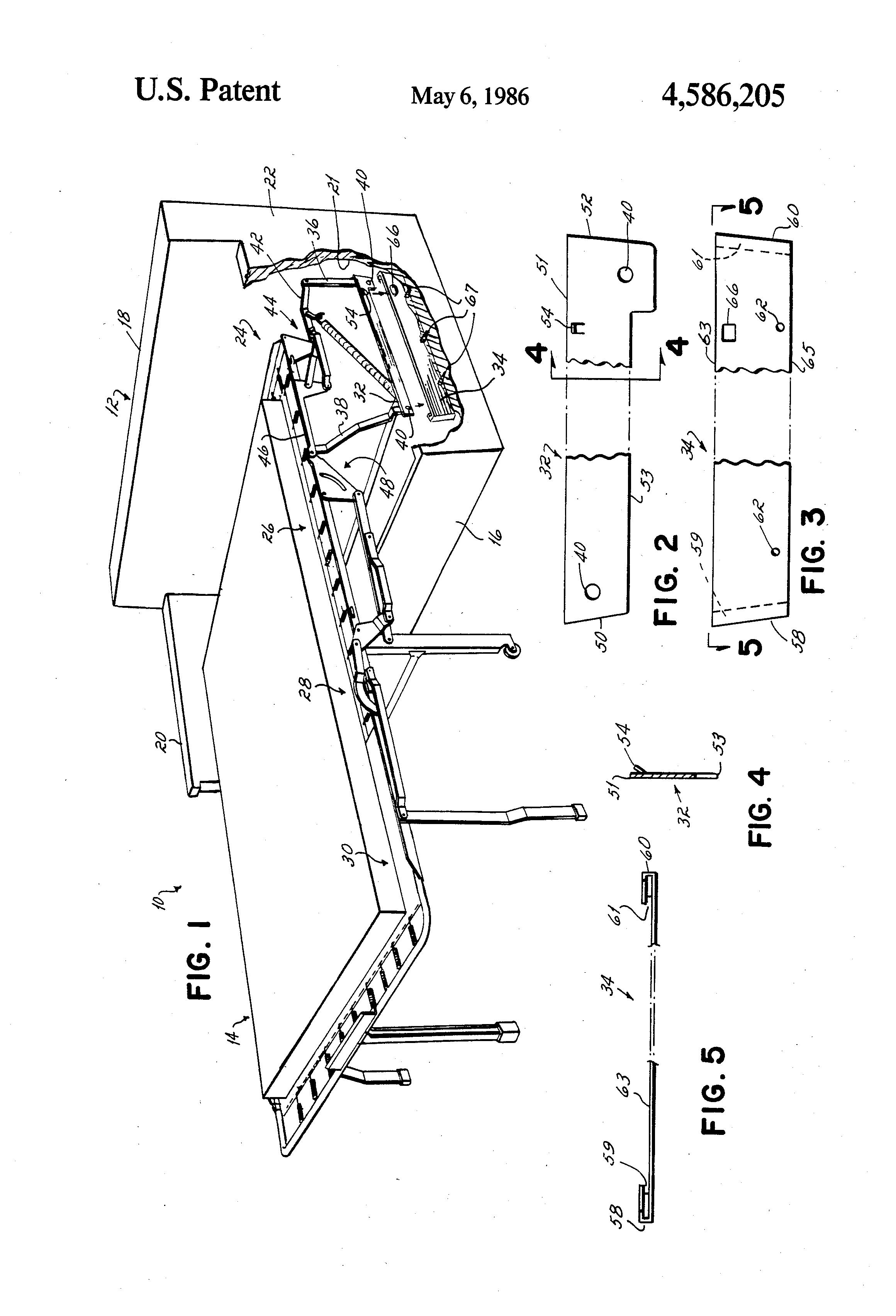 Patent Us4586205 Sofa Sleeper Having A Removable Sofa