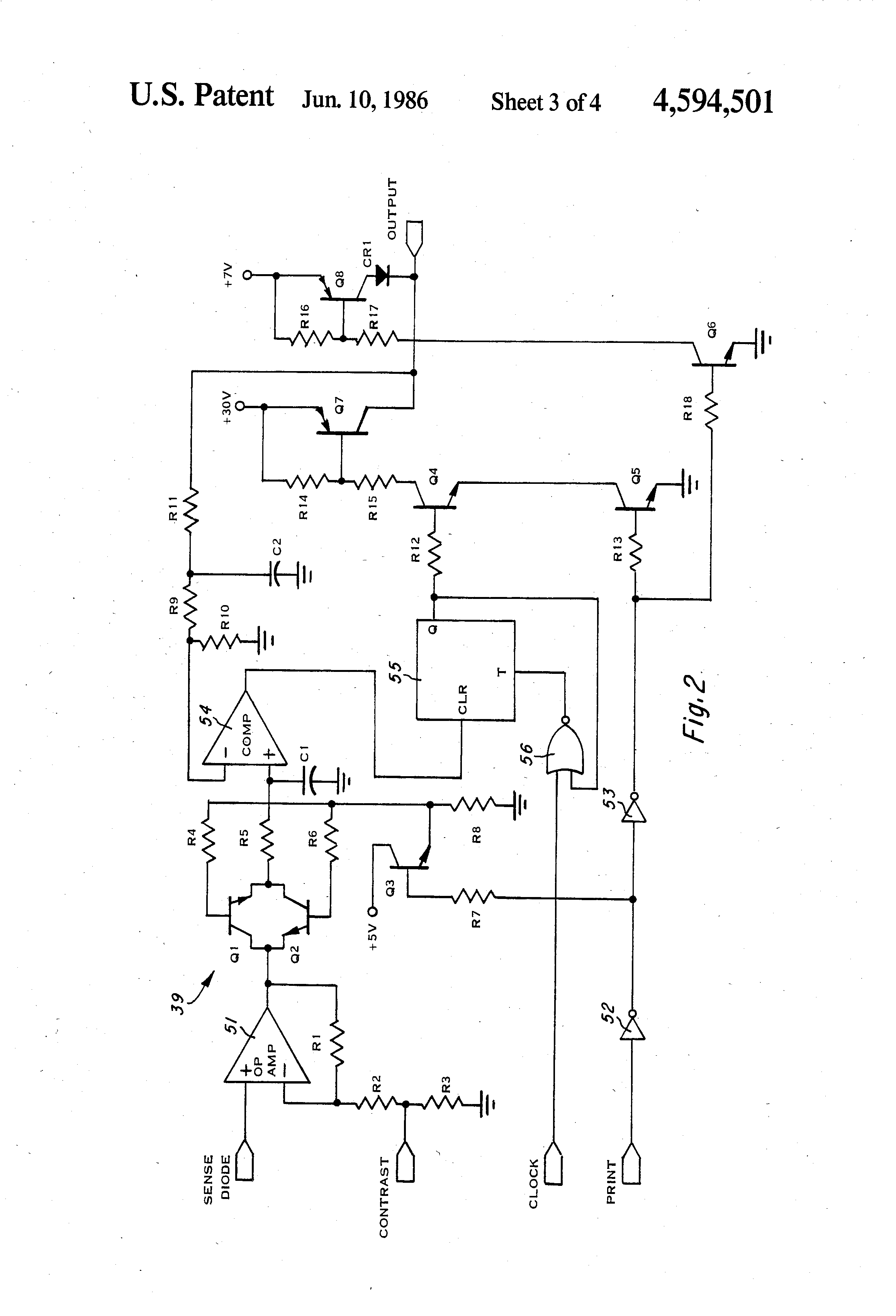 patent us4594501 - pulse width modulation of printhead voltage
