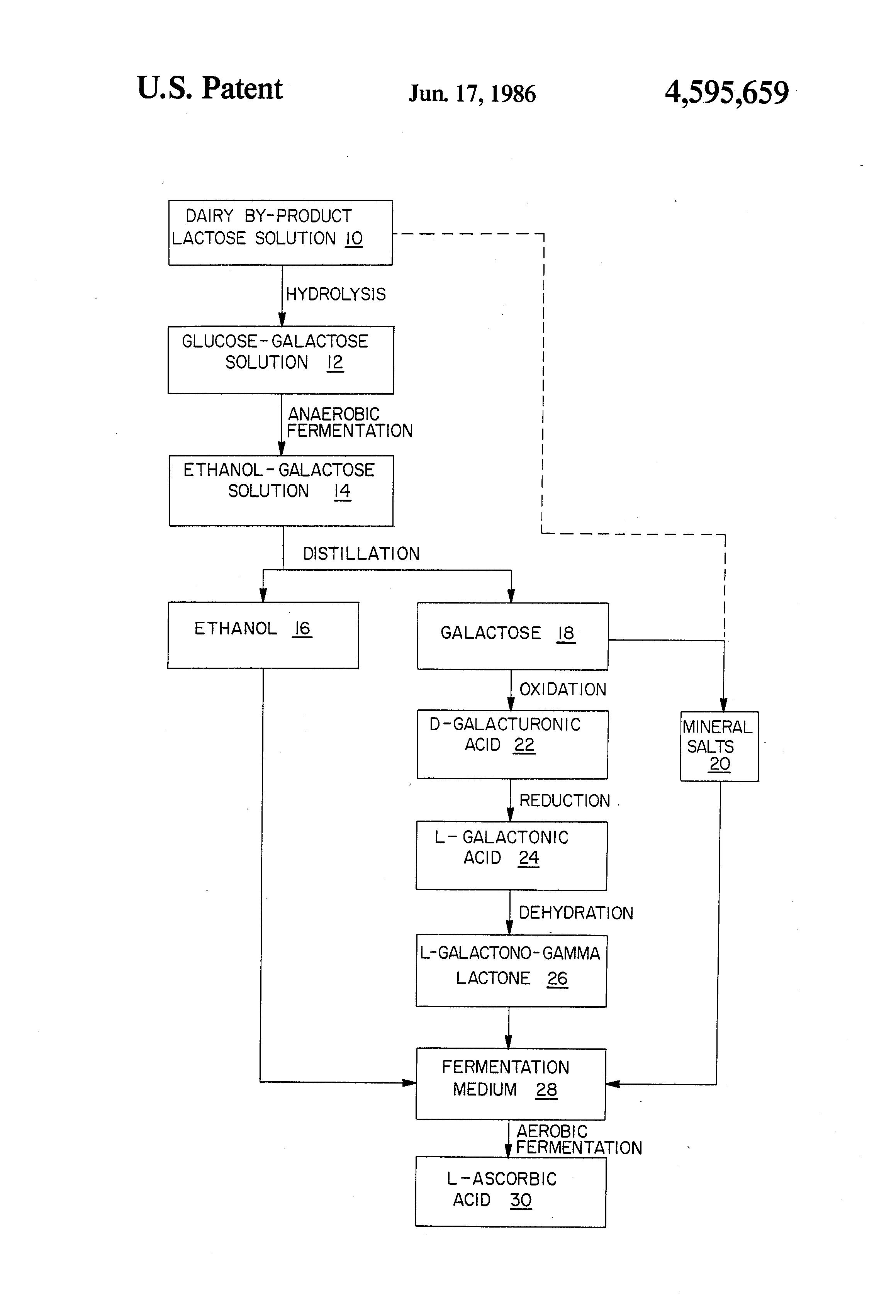 process flow diagram of vitamin c patent us4595659 fermentation production of ascorbic  patent us4595659 fermentation production of ascorbic