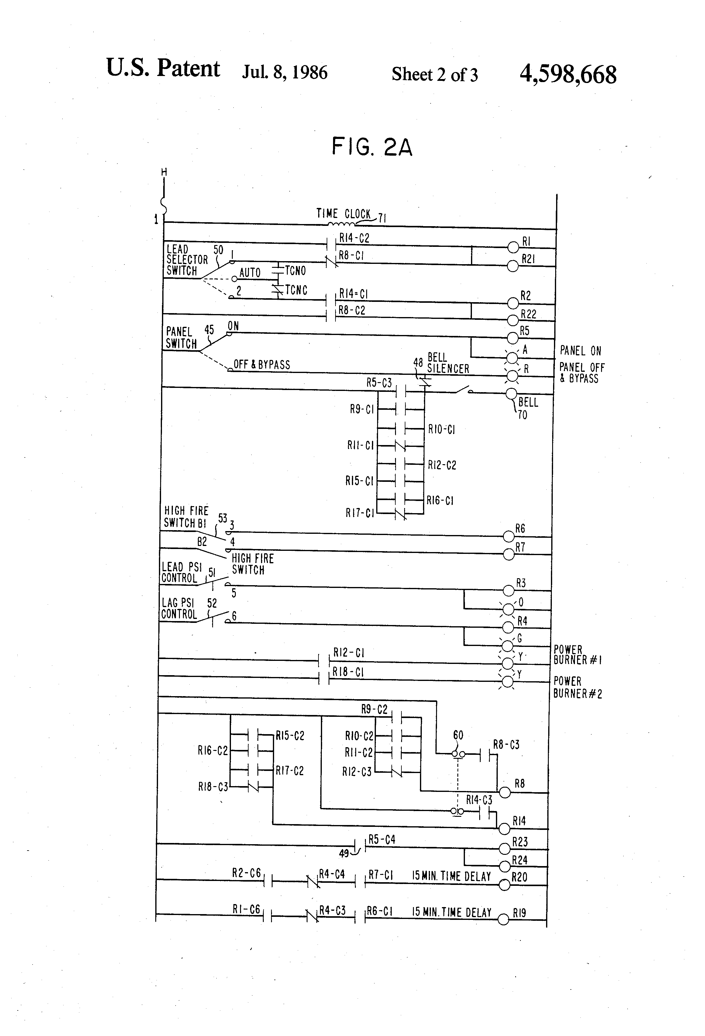 us4598668 2 patent us4598668 apparatus for efficiently controlling the boiler  control panel wiring