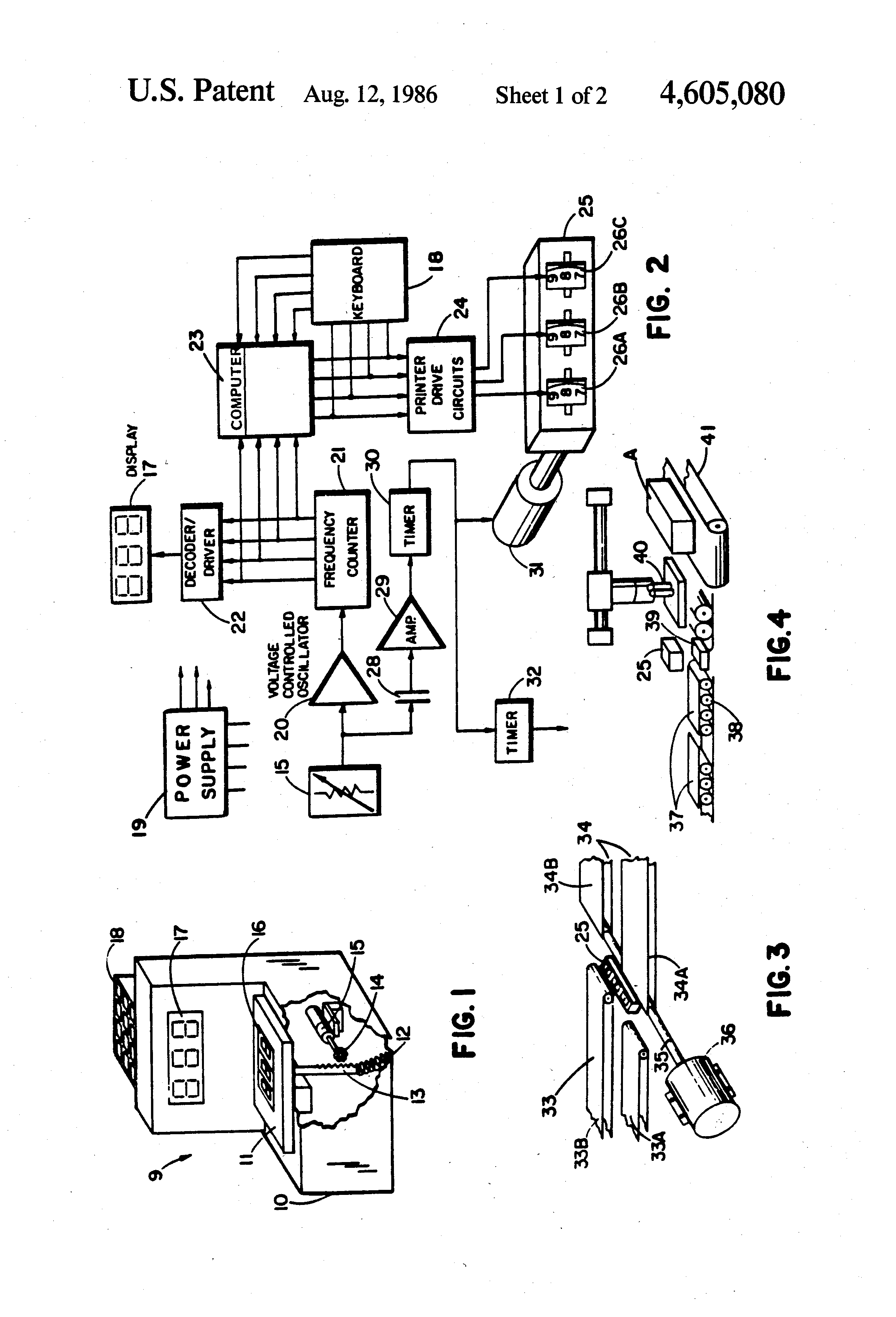 Patent US4605080 - Speech recognition control system and