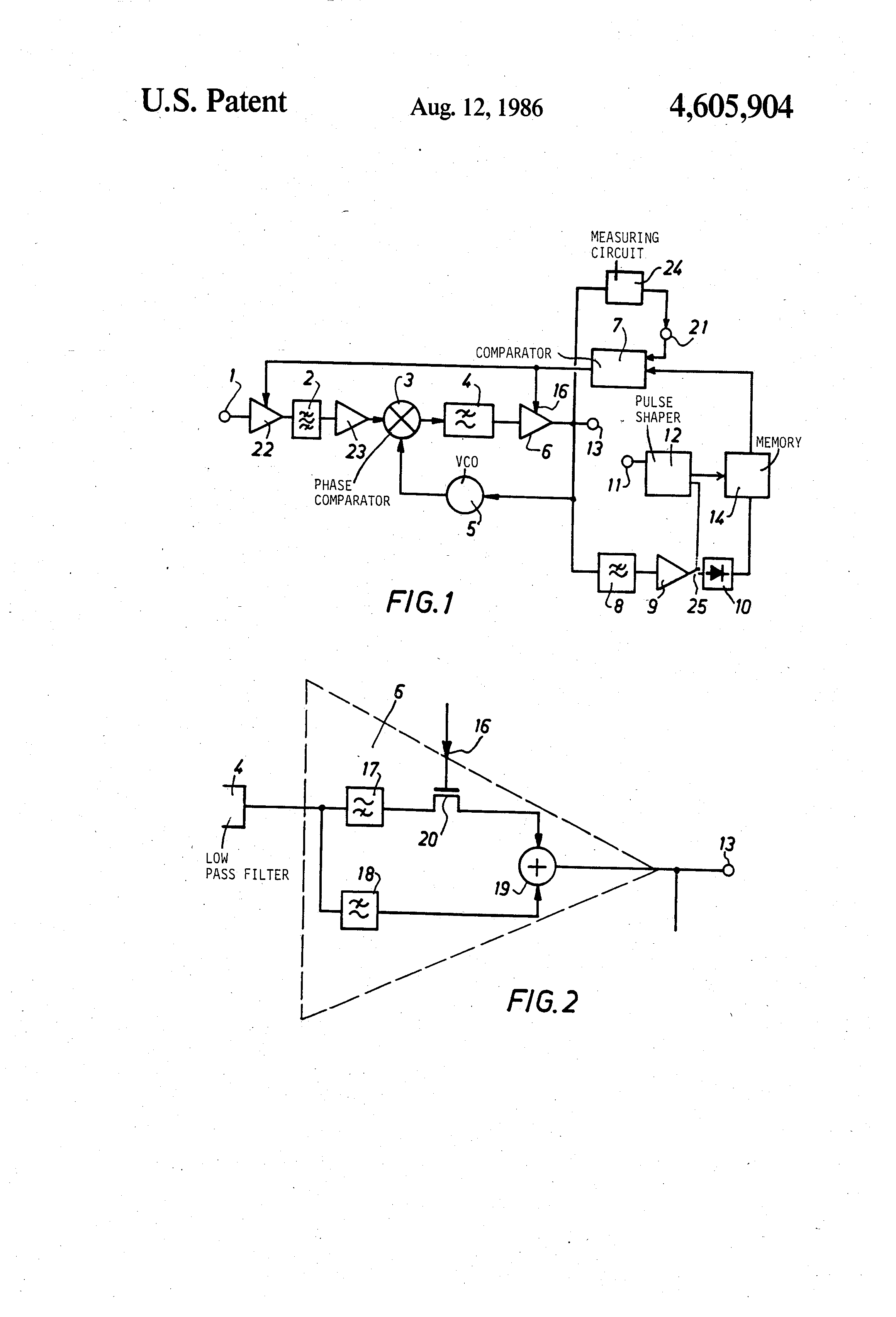 Patent Us4605904 Phase Locked Loop Frequency Demodulator Having An Pll Fm Circuit Schematic Diagram Drawing