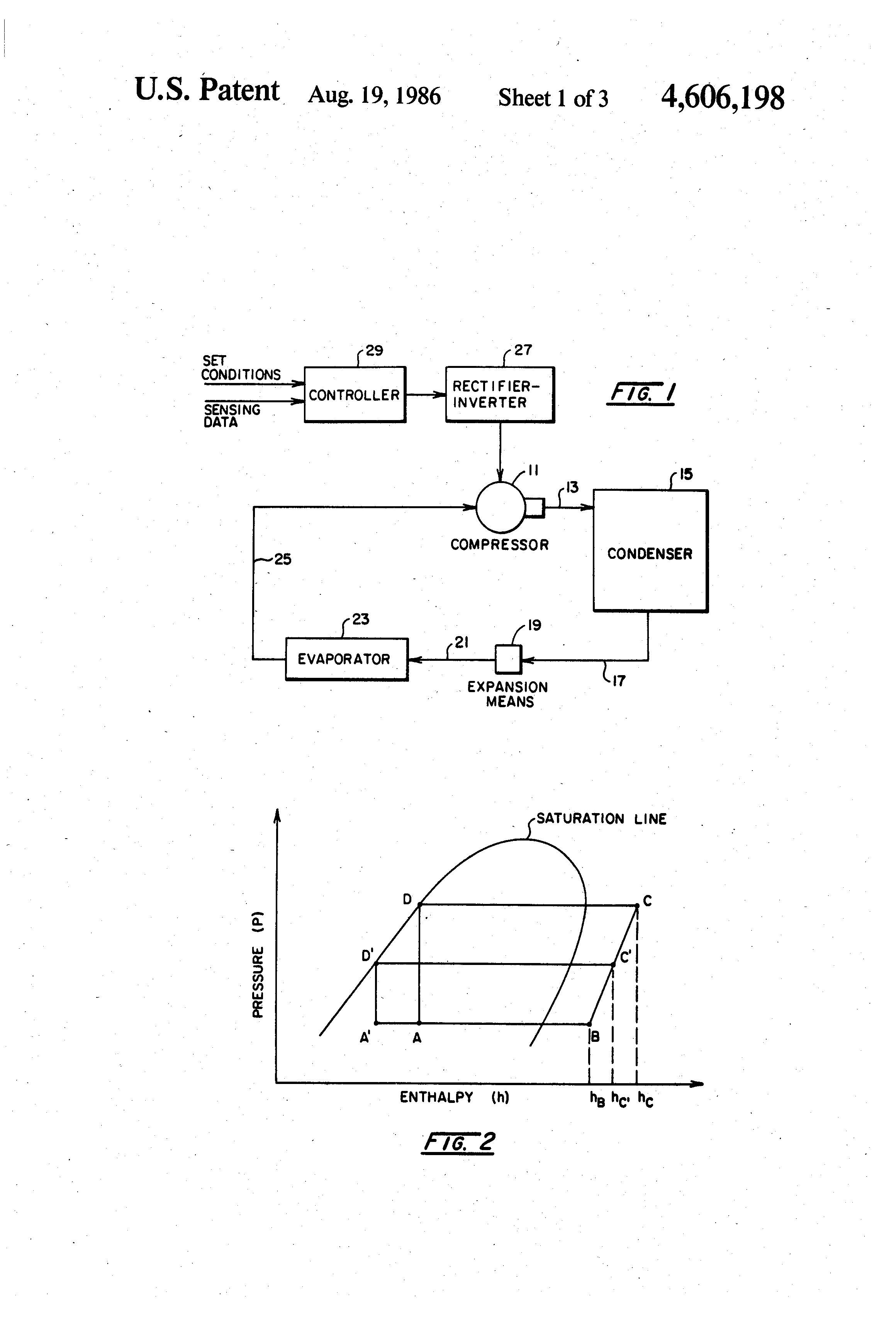 patent us4606198 parallel expansion valve system for energy