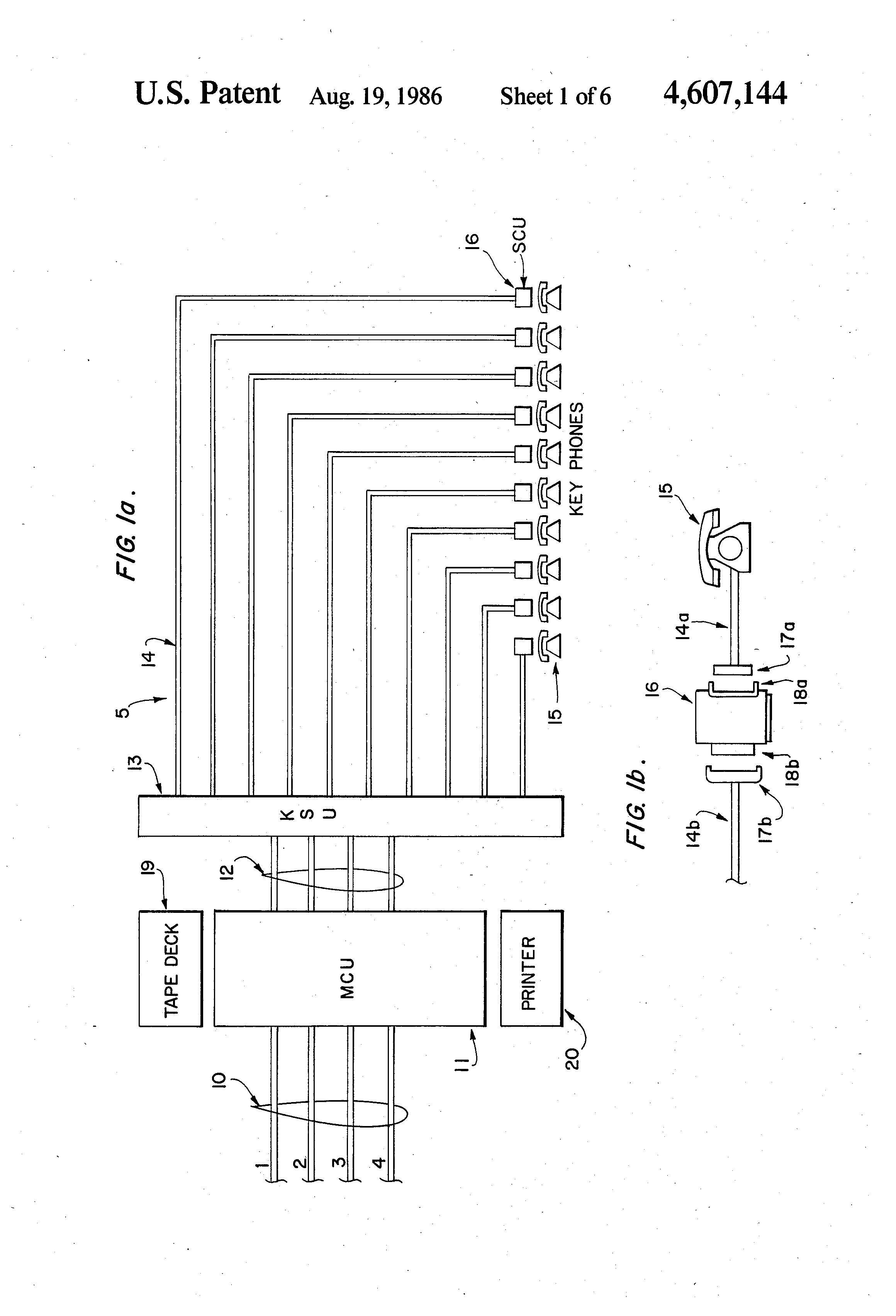 Patent Us4607144 Apparatus For Enhancing The Use Of Program 8870 Dtmf Interfacing With 8051 Drawing